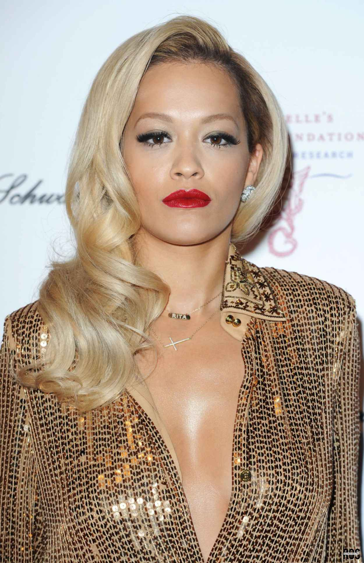 Rita Ora Wearing Emilio Pucci Floor-Length Dress - 2015 Gabrielles Gala in London-1