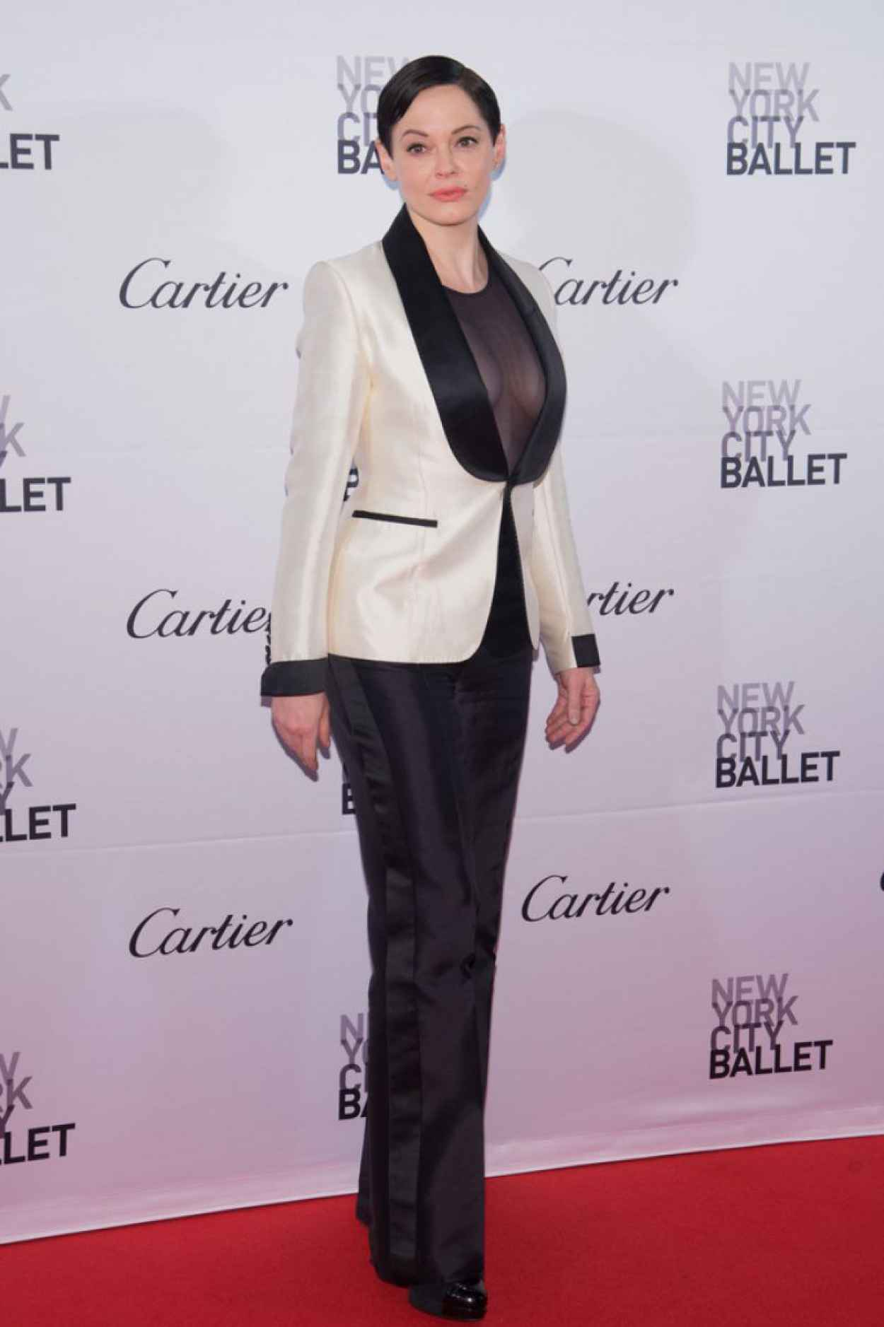 Rose McGowan - 2015 New York City Ballet Fall Gala-3