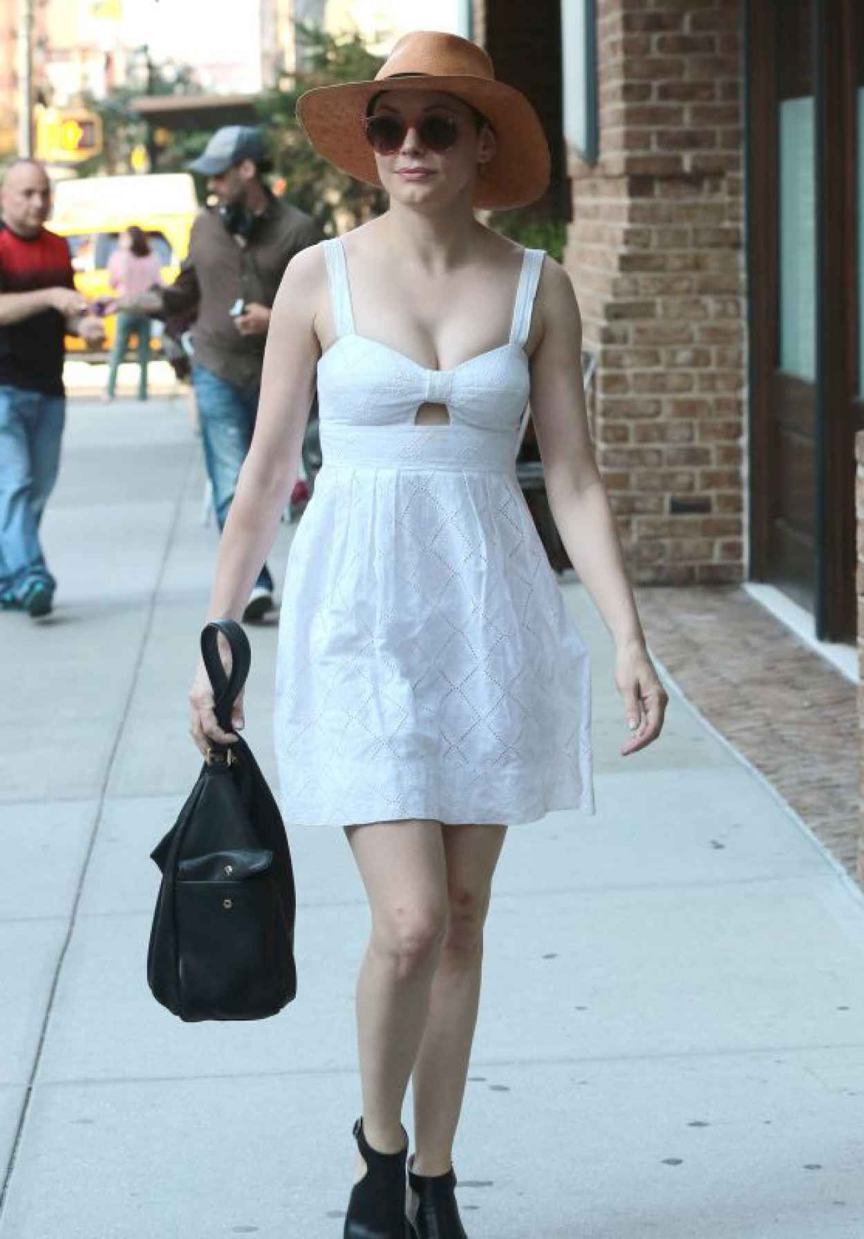 Rose McGowan - Out in NYC, August 2015-1
