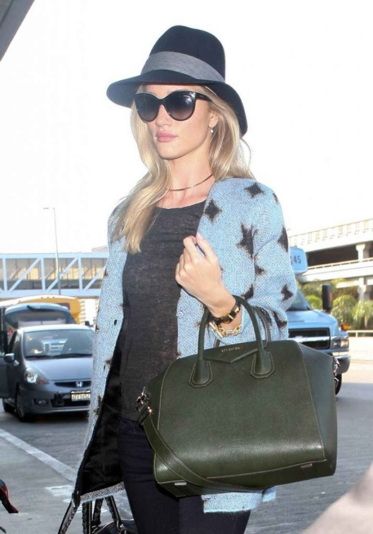Rosie Huntington-Whiteley - Arriving to LAX Airport-1