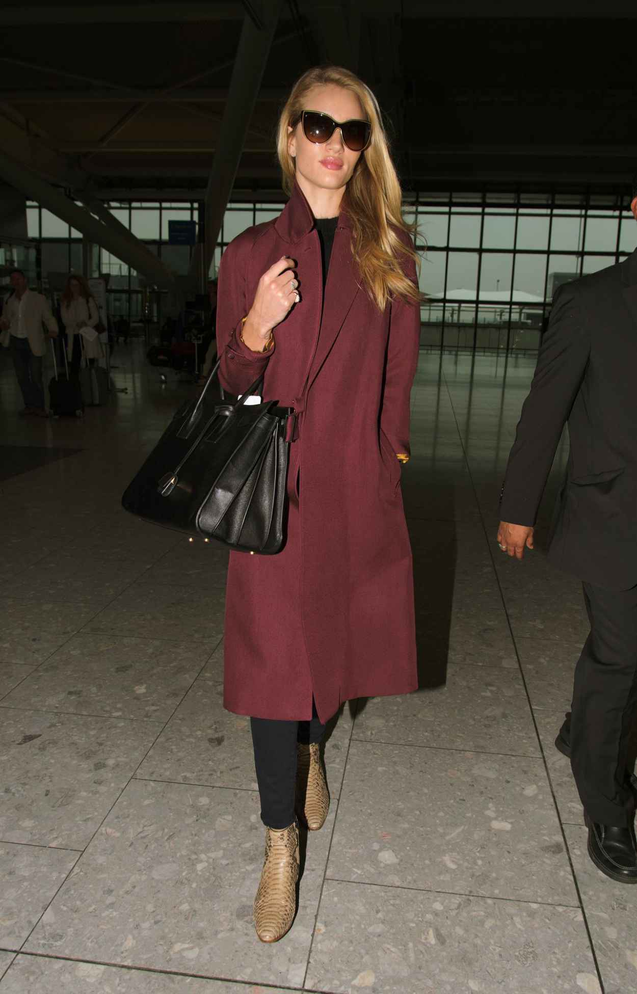 Rosie Huntington-Whiteley at Heathrow Airport in London - May 2015-2