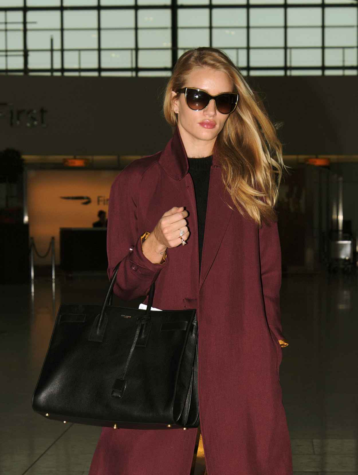 Rosie Huntington-Whiteley at Heathrow Airport in London - May 2015-1
