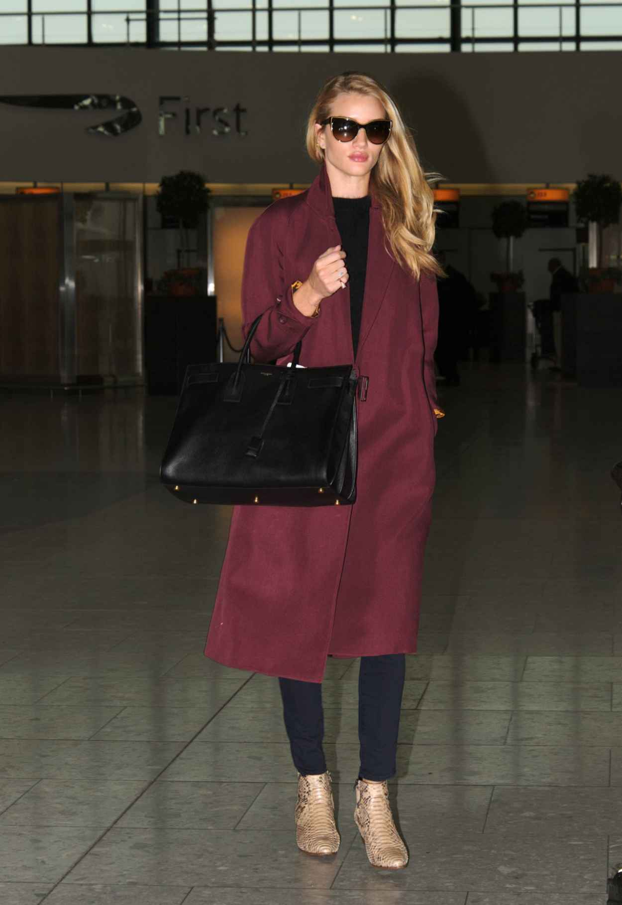 Rosie Huntington-Whiteley at Heathrow Airport in London - May 2015-5