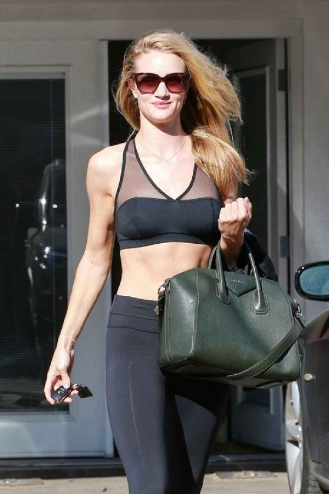 Rosie Huntington - Whiteley Gum Style - Leaving the Gym in West Hollywood - January 2015-1