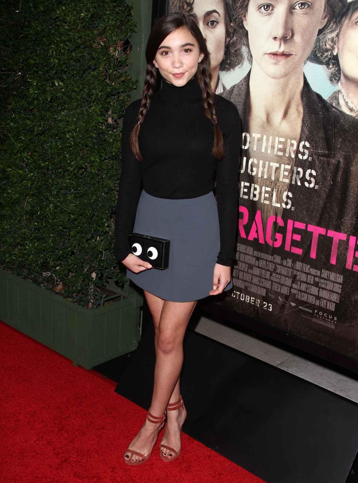 Rowan Blanchard - Focus Features Suffragette Premiere in Los Angeles-3