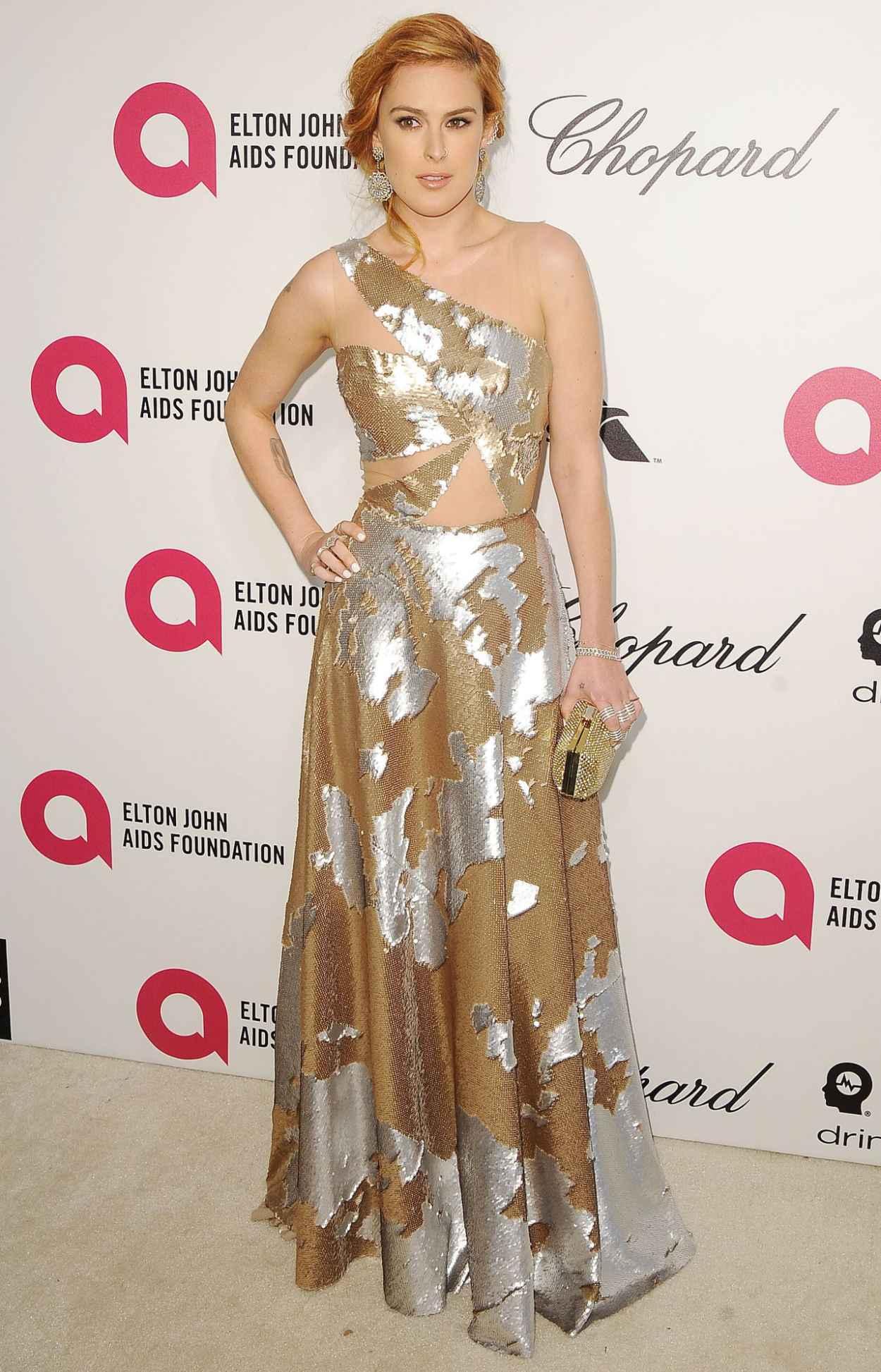 Rumer Willis at 2015 Elton John Oscar Party-5