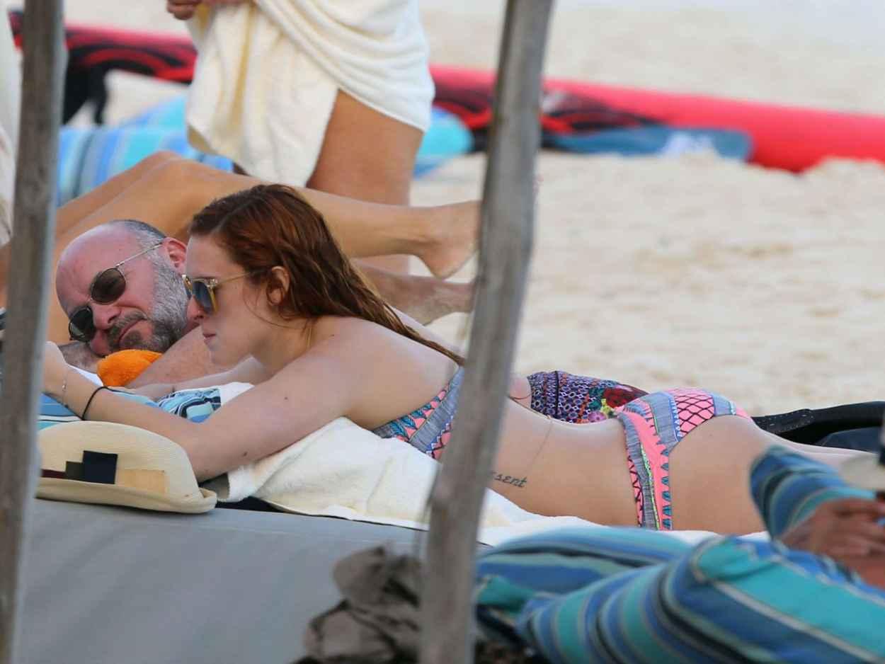 Rumer Willis in a Bikini - Beach in Miami, December 2015-1