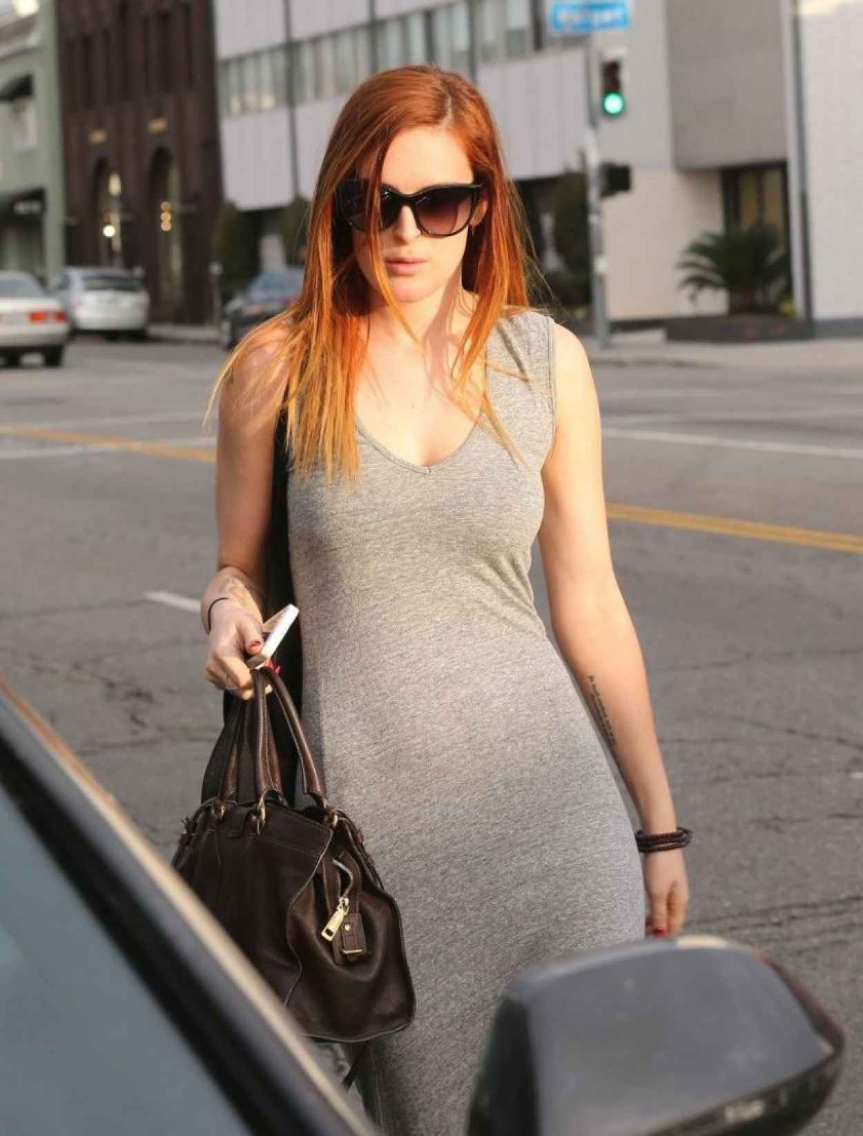 Rumer Willis Street Style - Shopping in LA-1
