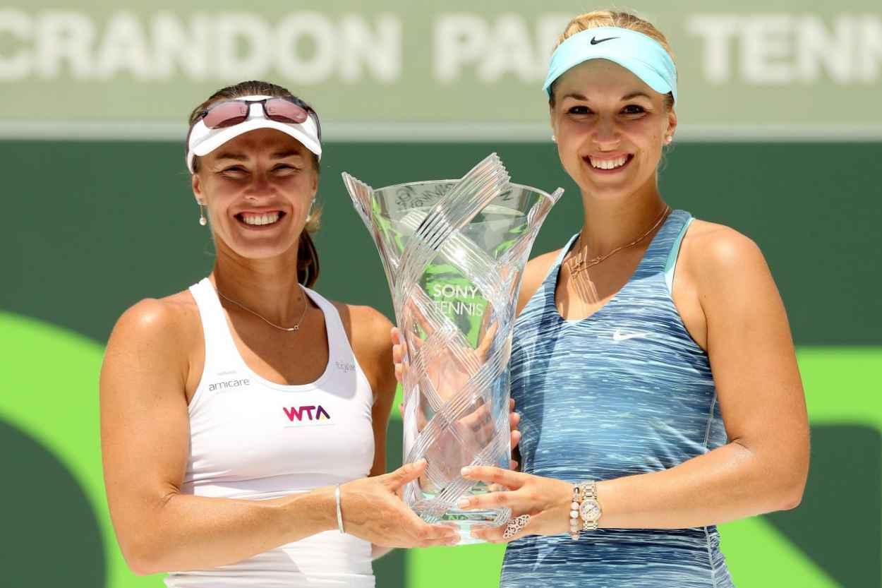 Sabine Lisiki & Martina Hingis - Sony Ericsson Open - Miami 2015-1