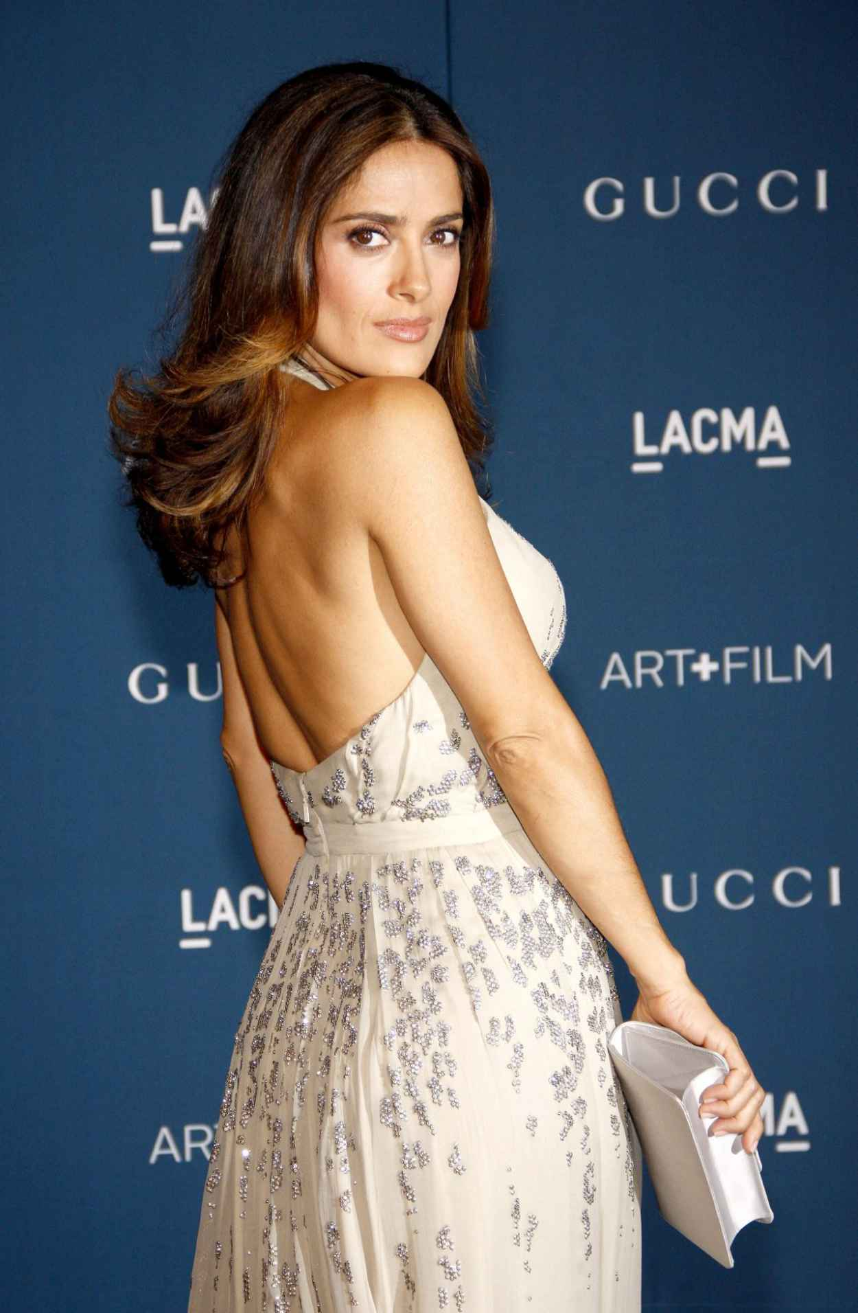 Salma Hayek on Red Carpet - 2015 LACMA Art and Film Gala in Los Angeles-1