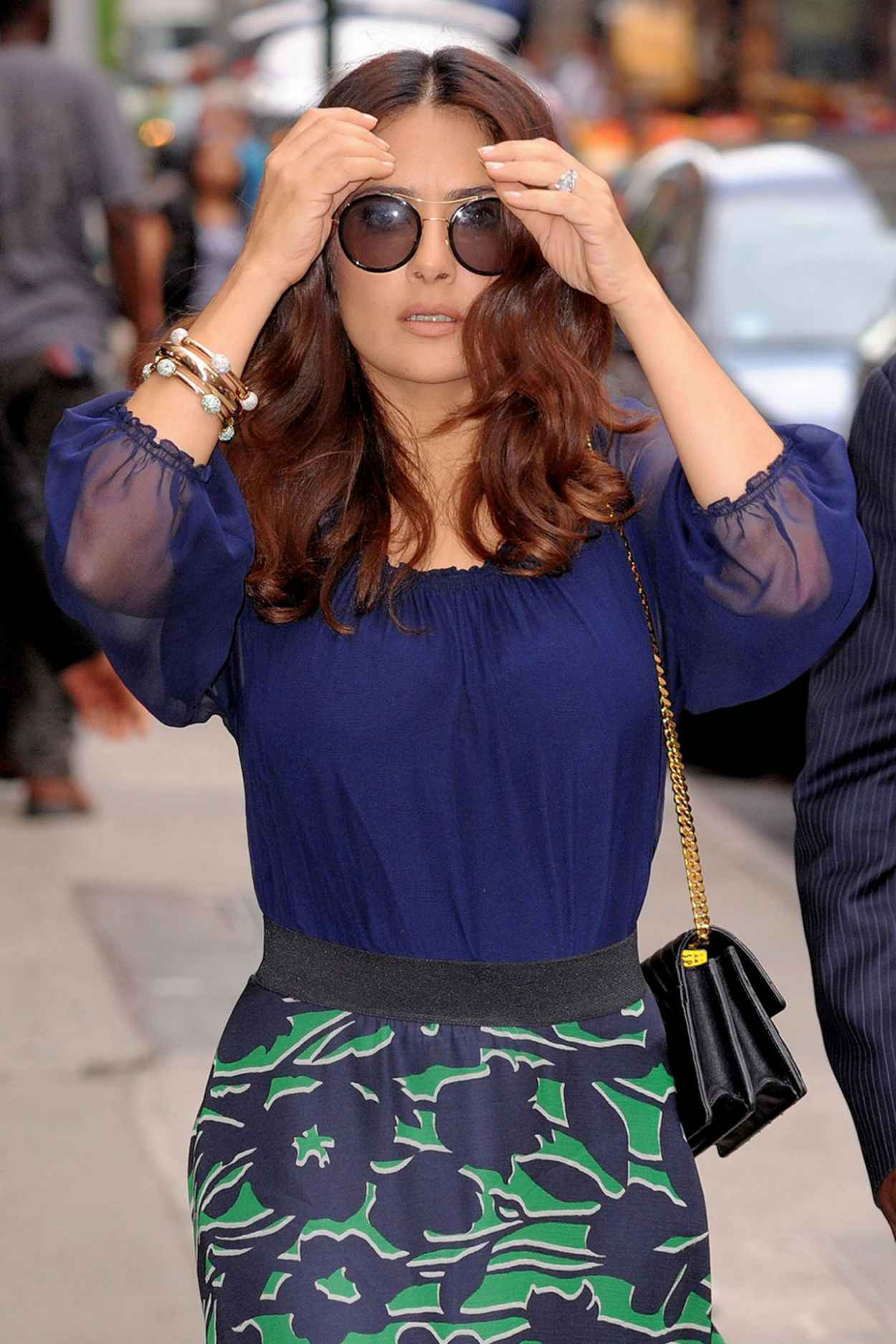 Good Morning America Los Angeles : Salma hayek good morning america in new york city