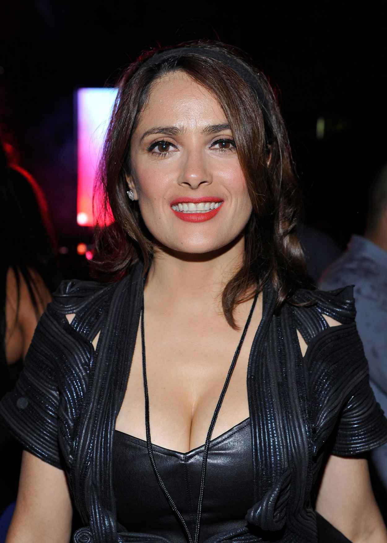 Salma Hayek Night Out Style - DUSSE VIP Lounge at the On The Run Tour in Pasadena-1
