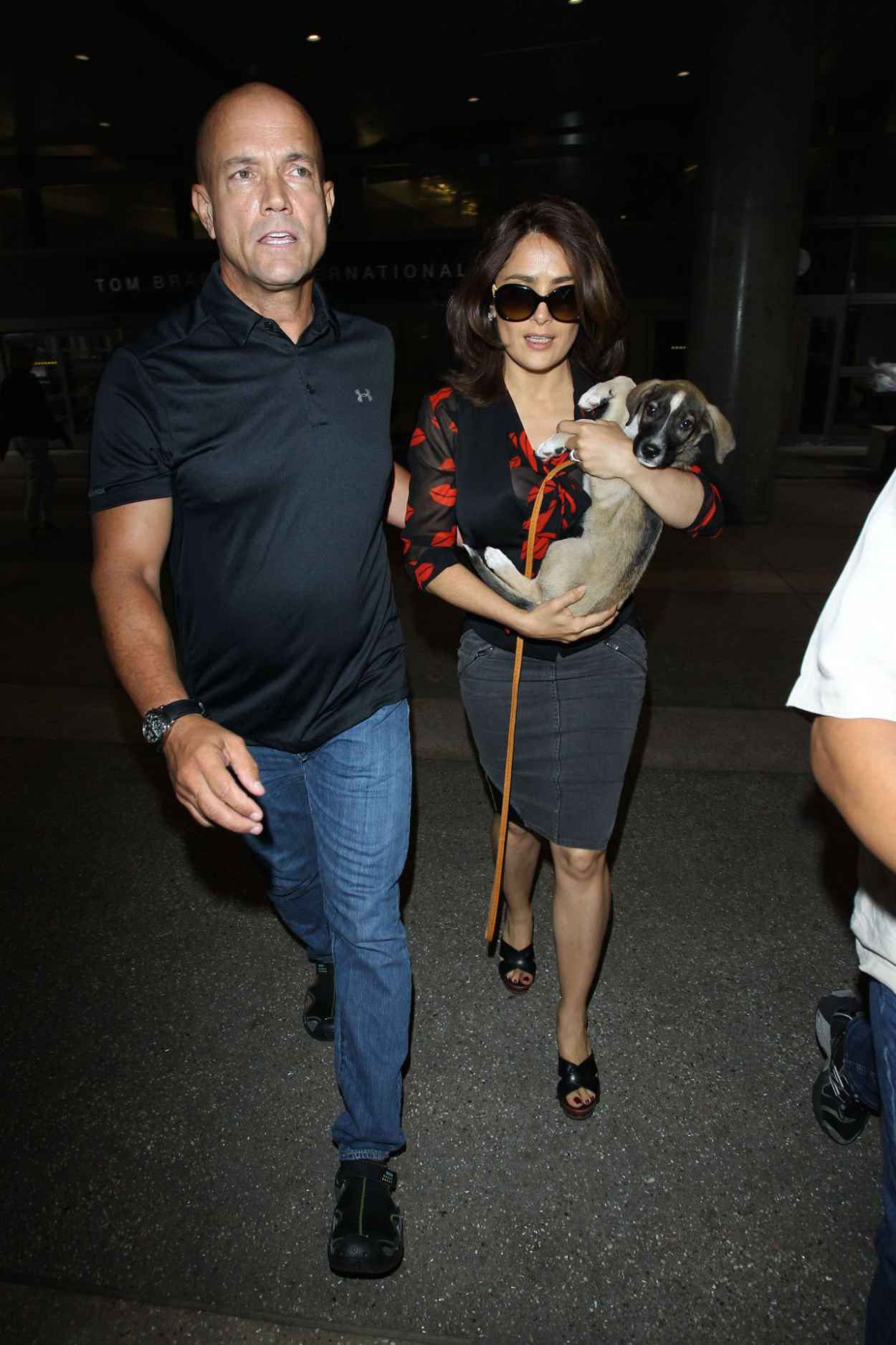 Salma Hayek Spotted at LAX Airport - July 2015-1