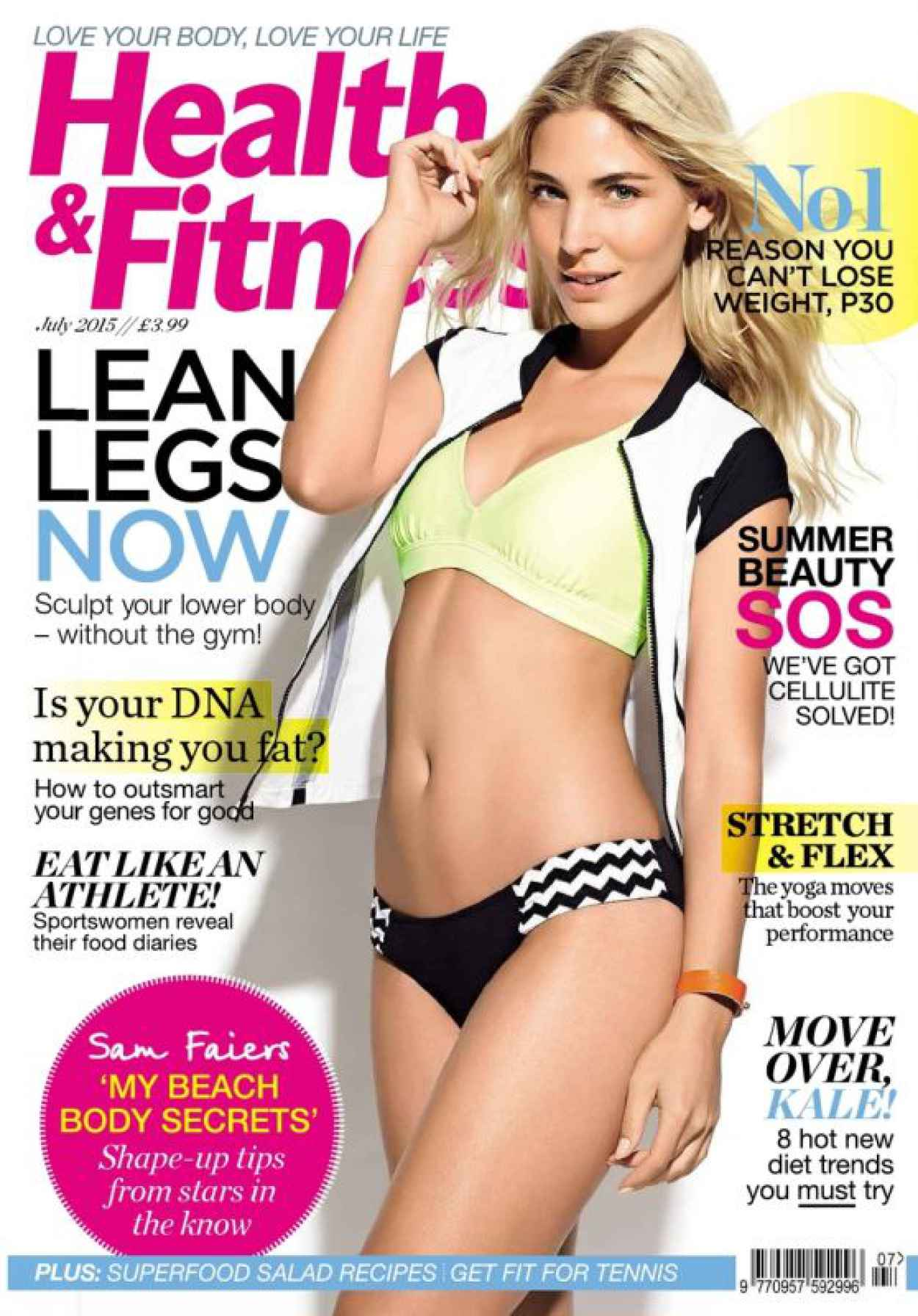 Sam Faiers - Health & Fitness (UK) July 2015 Issue-1