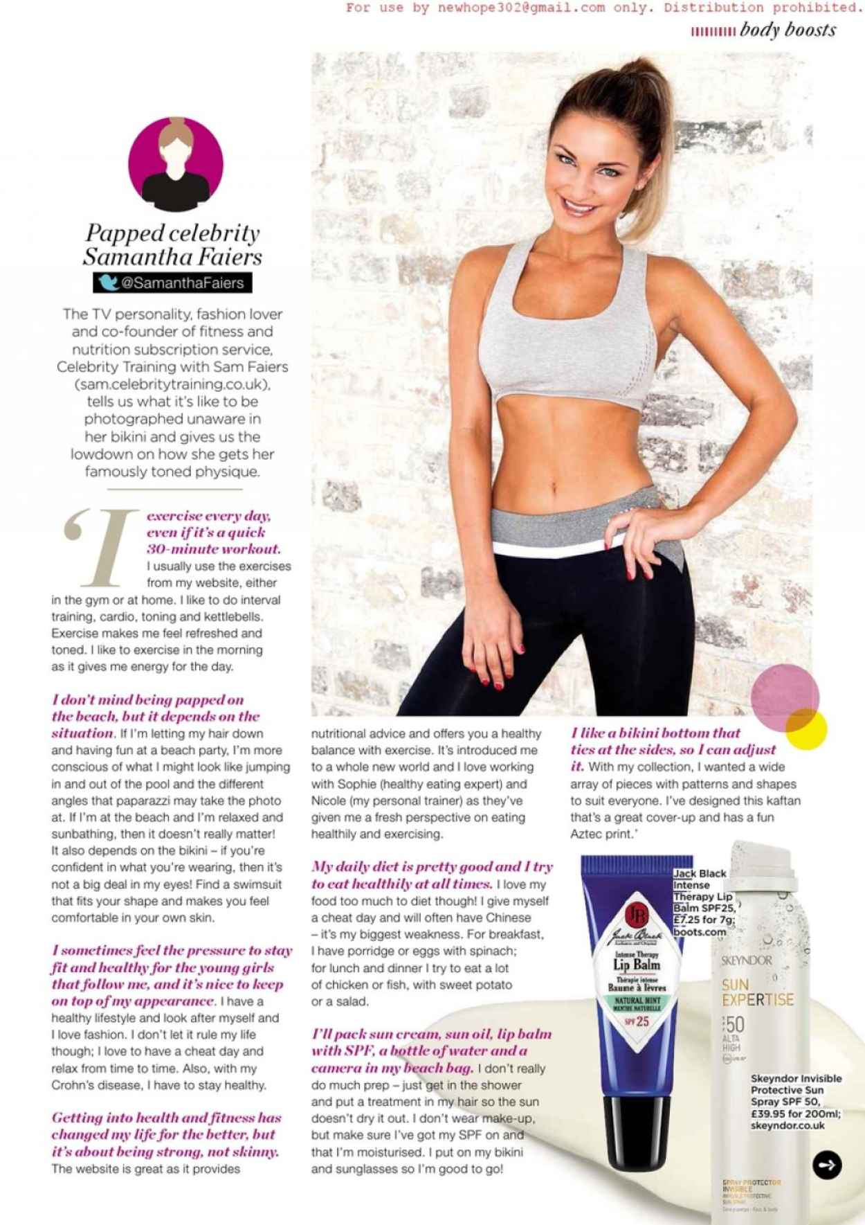 Sam Faiers - Health & Fitness (UK) July 2015 Issue-2