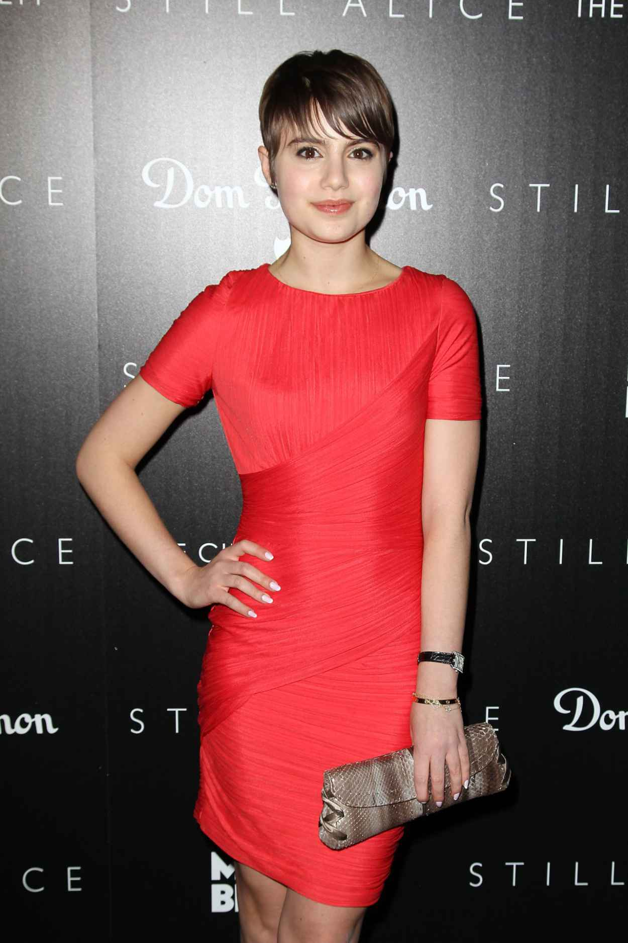 Sami Gayle in Red Dress - Still Alice Screening in New York City-1