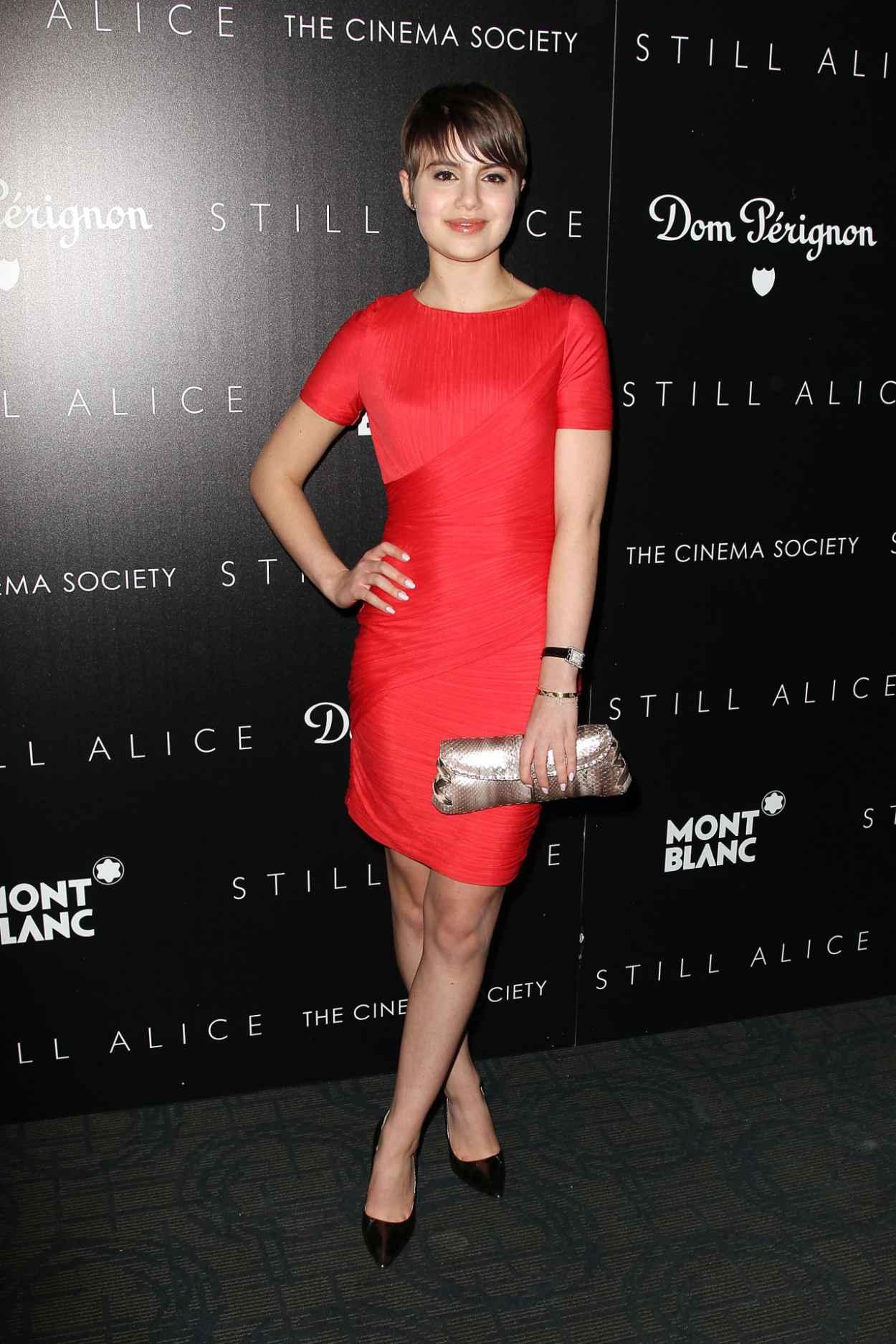 Sami Gayle in Red Dress - Still Alice Screening in New York City-2
