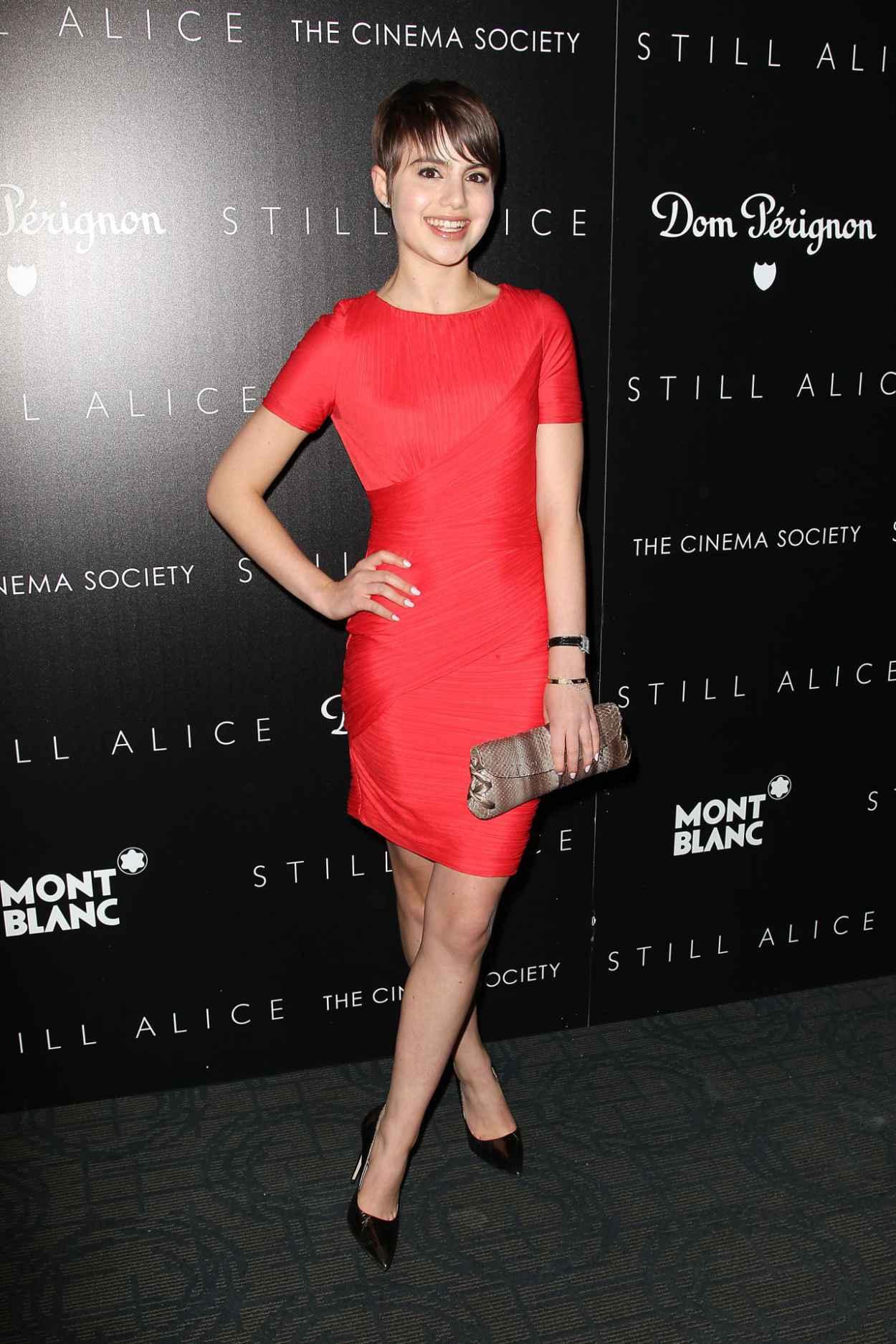 Sami Gayle in Red Dress - Still Alice Screening in New York City-3