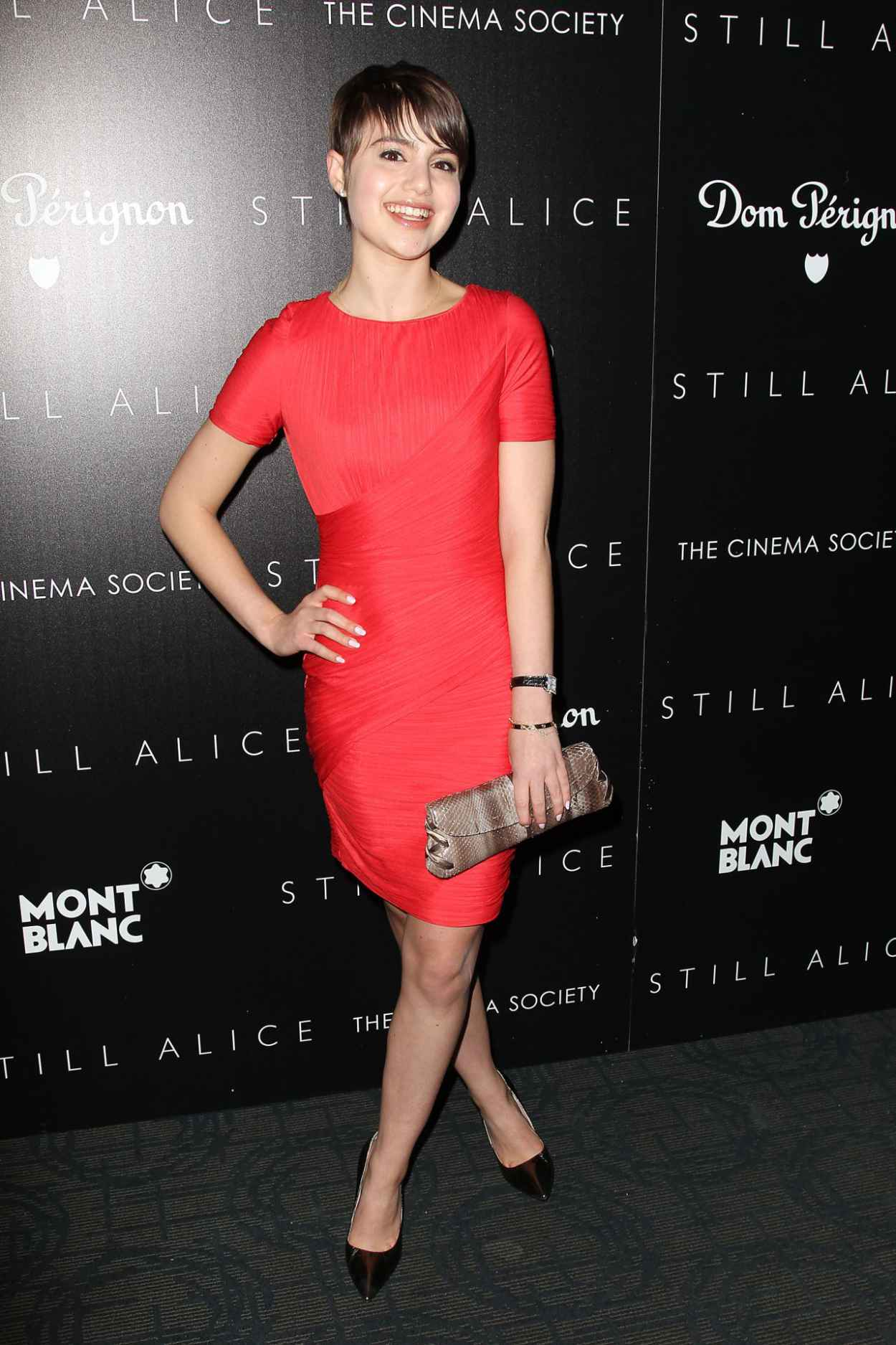 Sami Gayle in Red Dress - Still Alice Screening in New York City-4