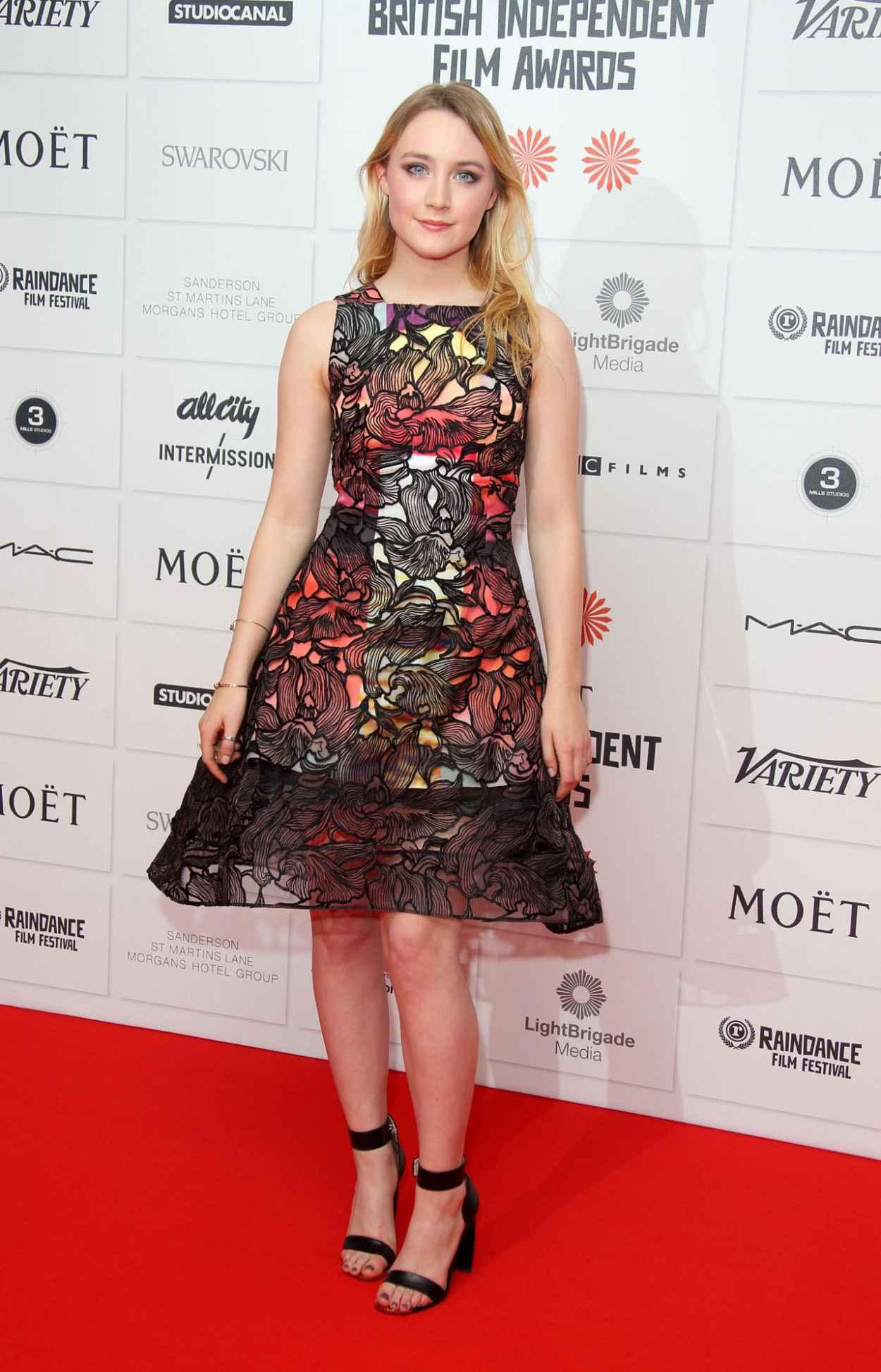 Saoirse Ronan on Red Carpet - 2015 Moet British Independent Film Awards in London-1
