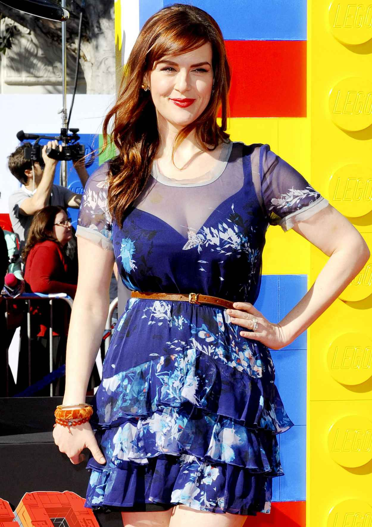 Sara Rue on Red Carpet - THE LEGO MOVIE Premiere in Los Angeles-3
