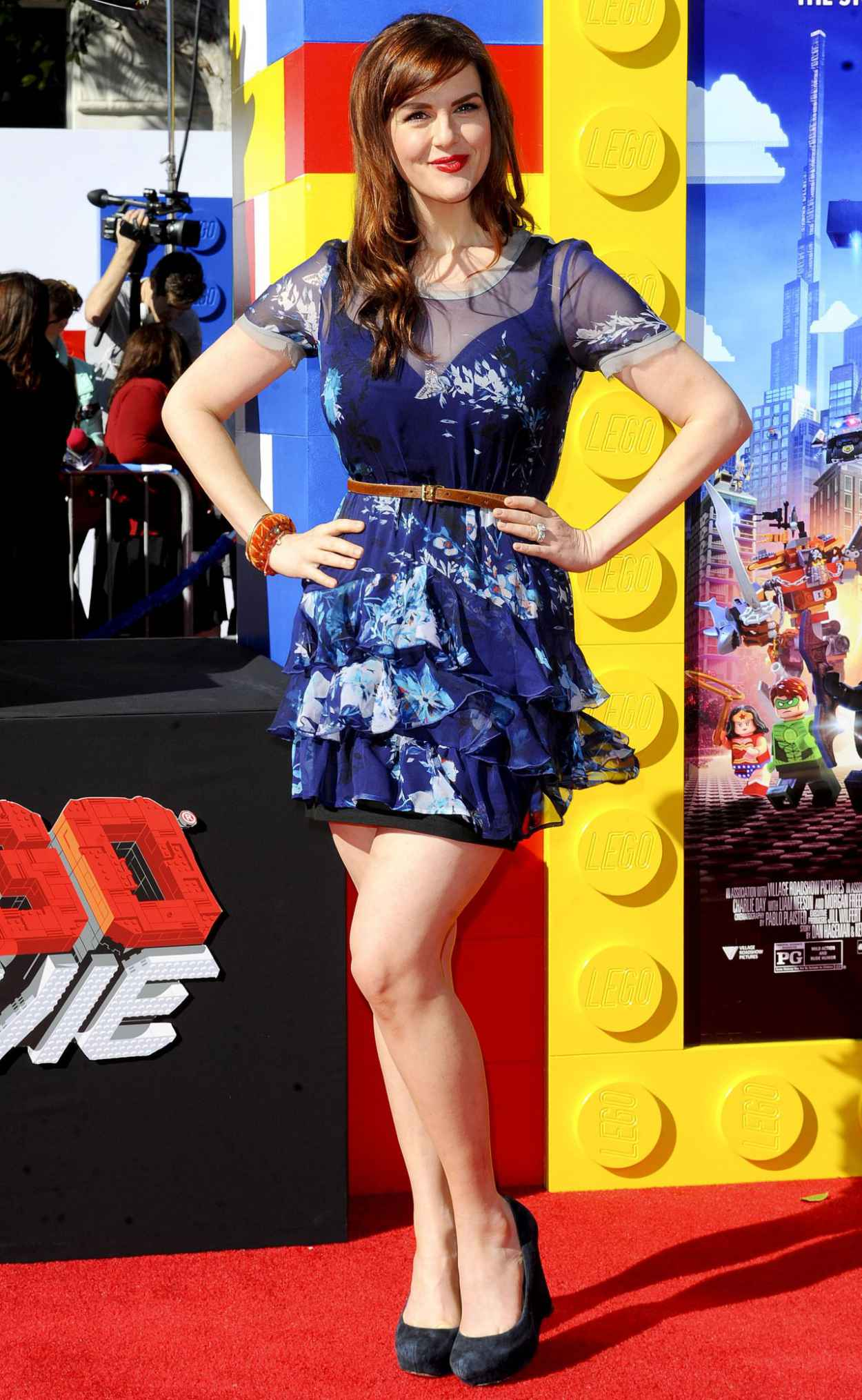 Sara Rue on Red Carpet - THE LEGO MOVIE Premiere in Los Angeles-4