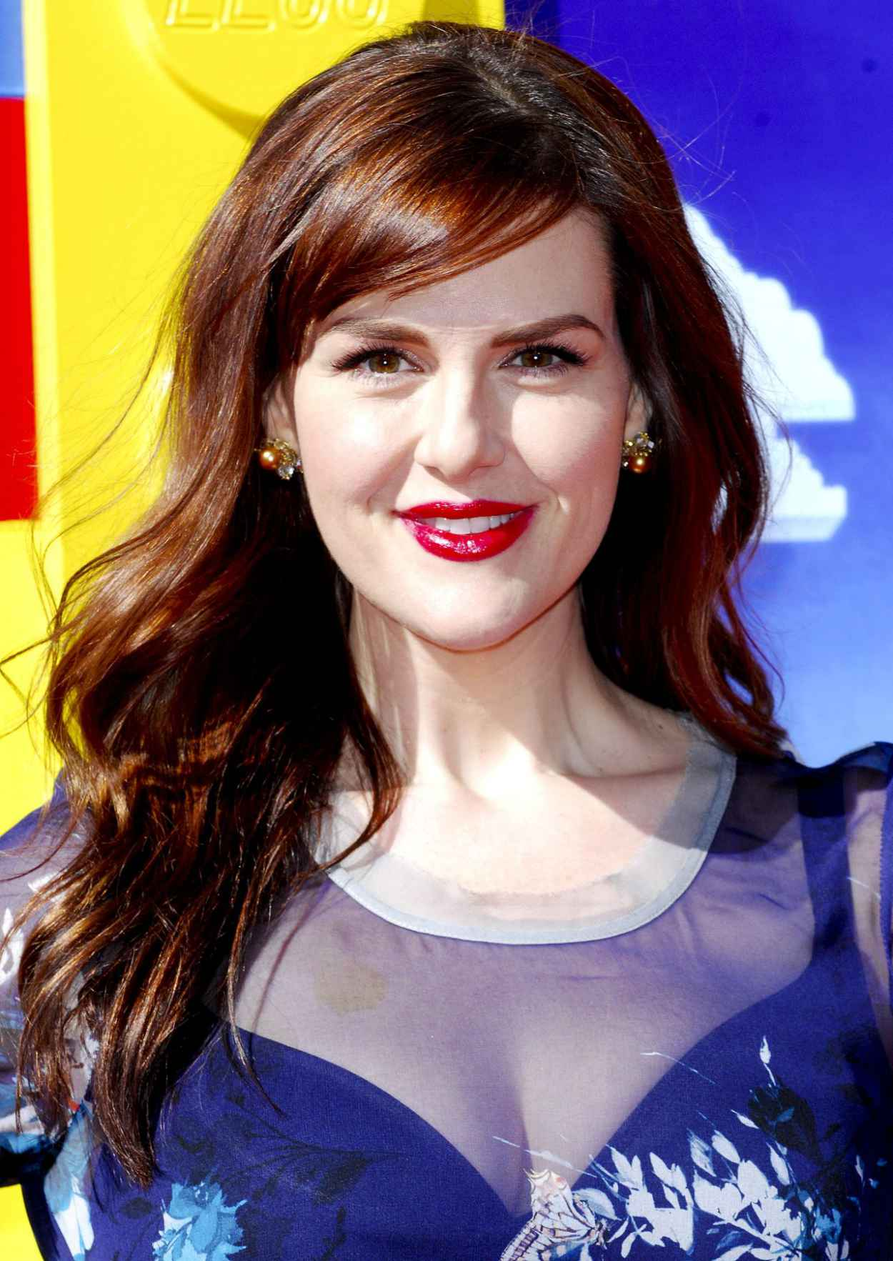 Sara Rue on Red Carpet - THE LEGO MOVIE Premiere in Los Angeles-5