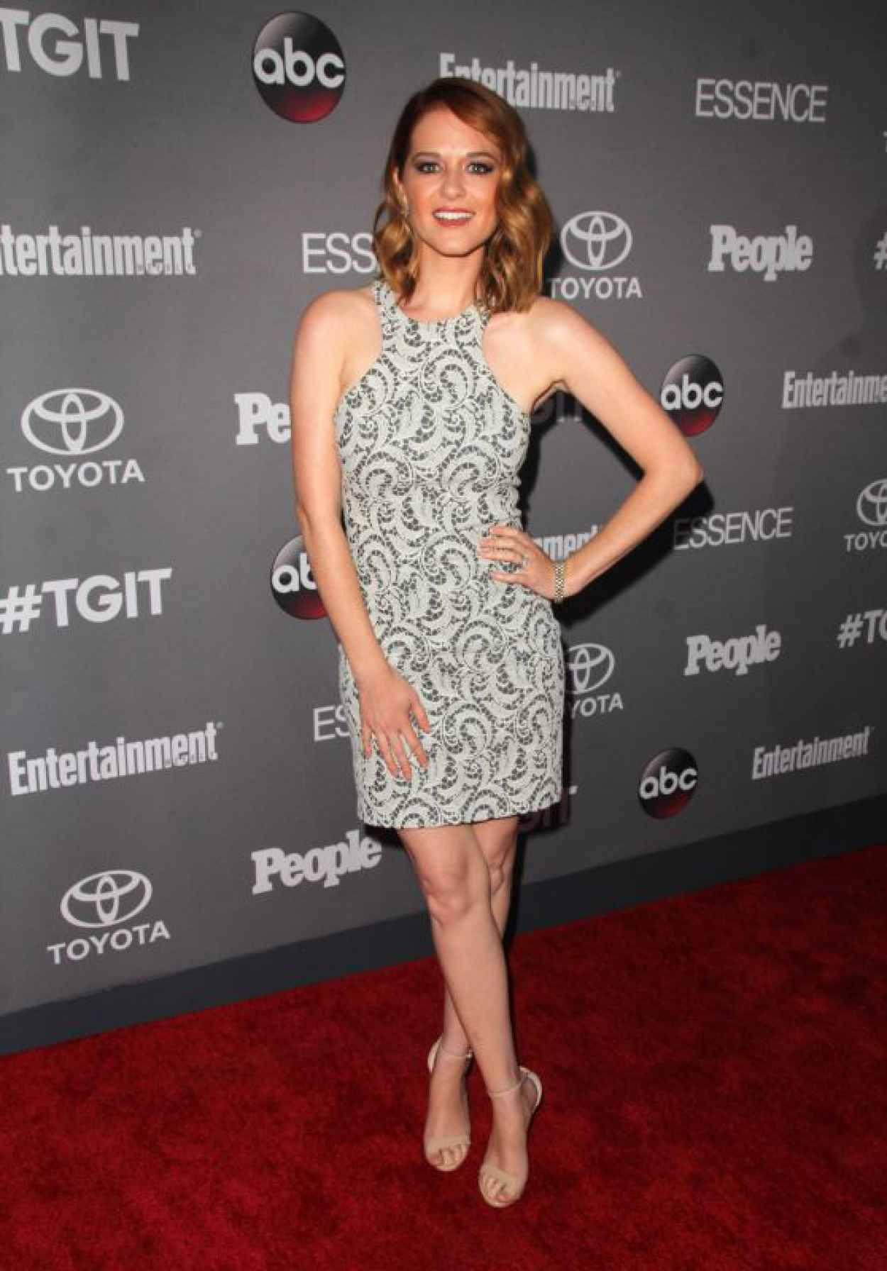 Sarah Drew - ABCs TGIT Line-up Celebration in West Hollywood-1