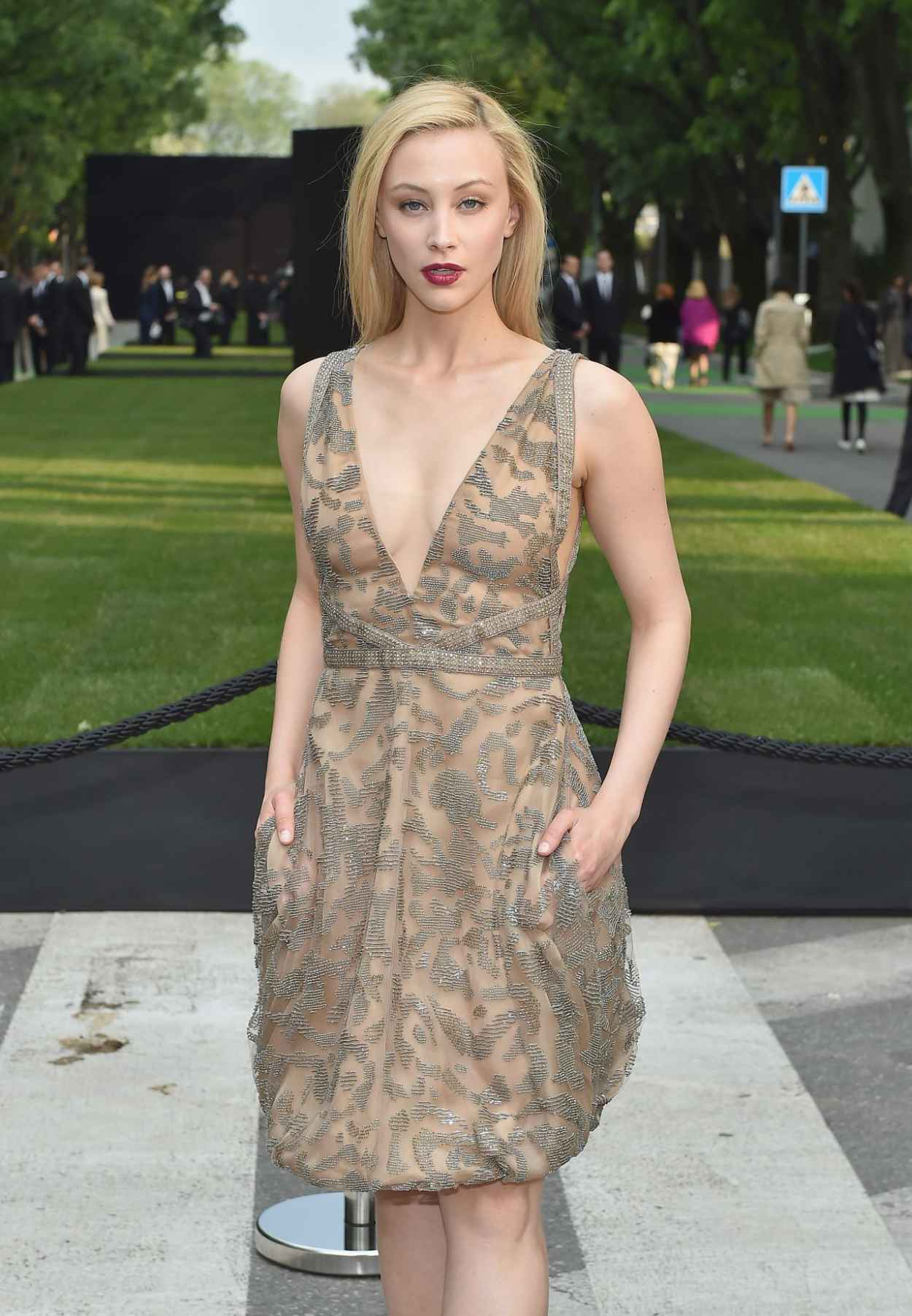 Sarah Gadon - Giorgio Armani 40th Anniversary Silos Opening And Cocktail Reception in Milan-4