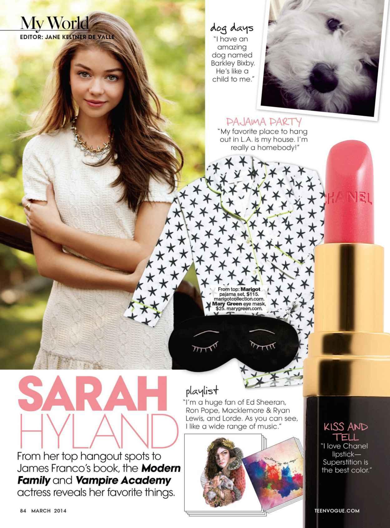Sarah Hyland - TEEN VOGUE Magazine - March 2015 Issue-1