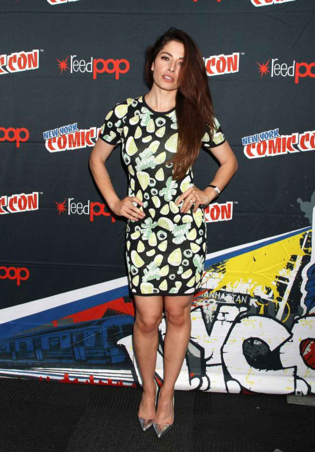 Sarah Shahi - Promoting Person of Interest at 2015 New York Comic-Con-1