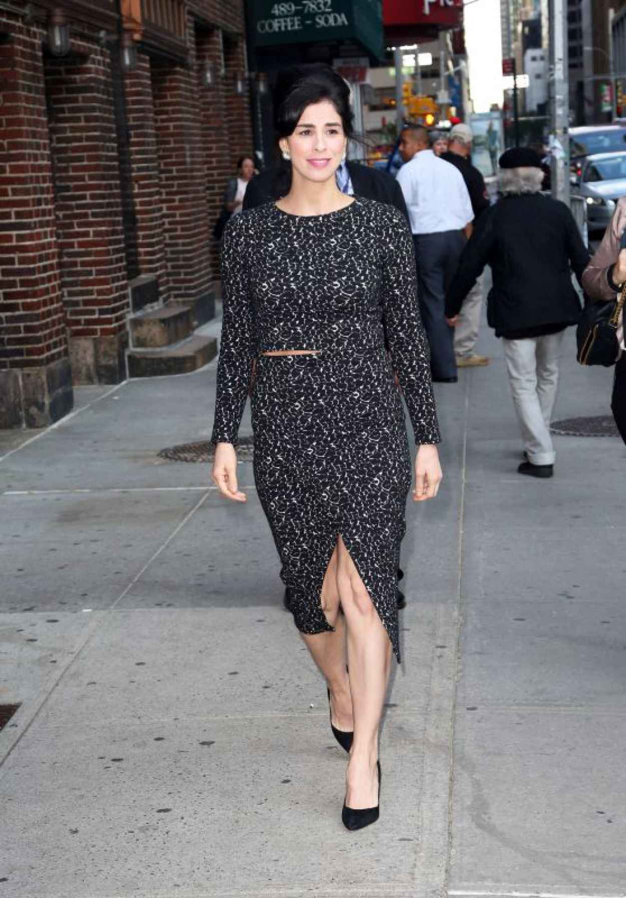 Sarah Silverman - Outside The Late Show With Stephen Colbert in NYC, October 2015-1