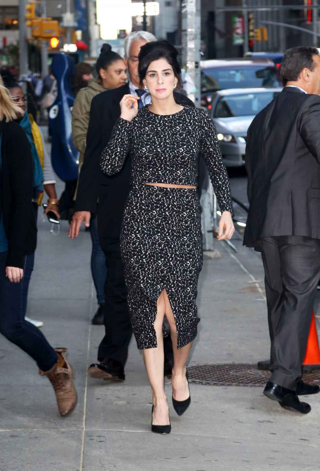 Sarah Silverman - Outside The Late Show With Stephen Colbert in NYC, October 2015-3