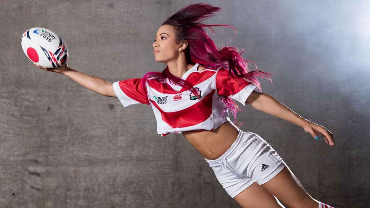 Sasha Banks - WWE Rugby World Cup Divas Photoshoot - September 2015-4