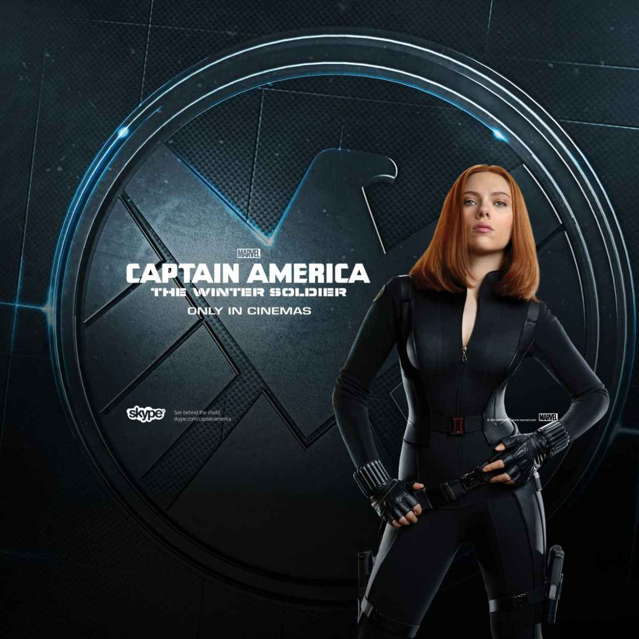Scarlett Johansson - Captain America: The Winter Soldier Poster-1
