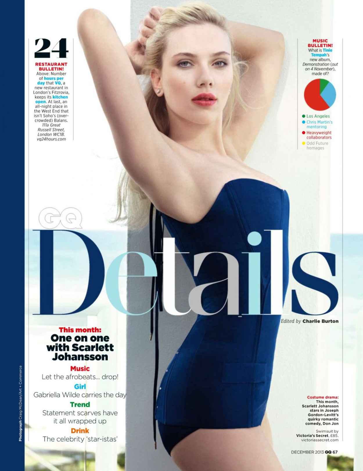 Scarlett Johansson - GQ UK Magazine - December 2015 Issue-1