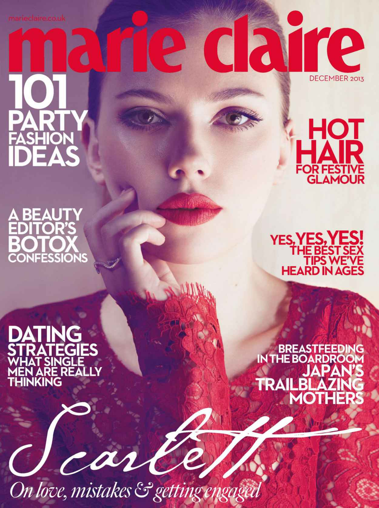 Scarlett Johansson - MARIE CLAIRE Magazine (UK) - December 2015-1