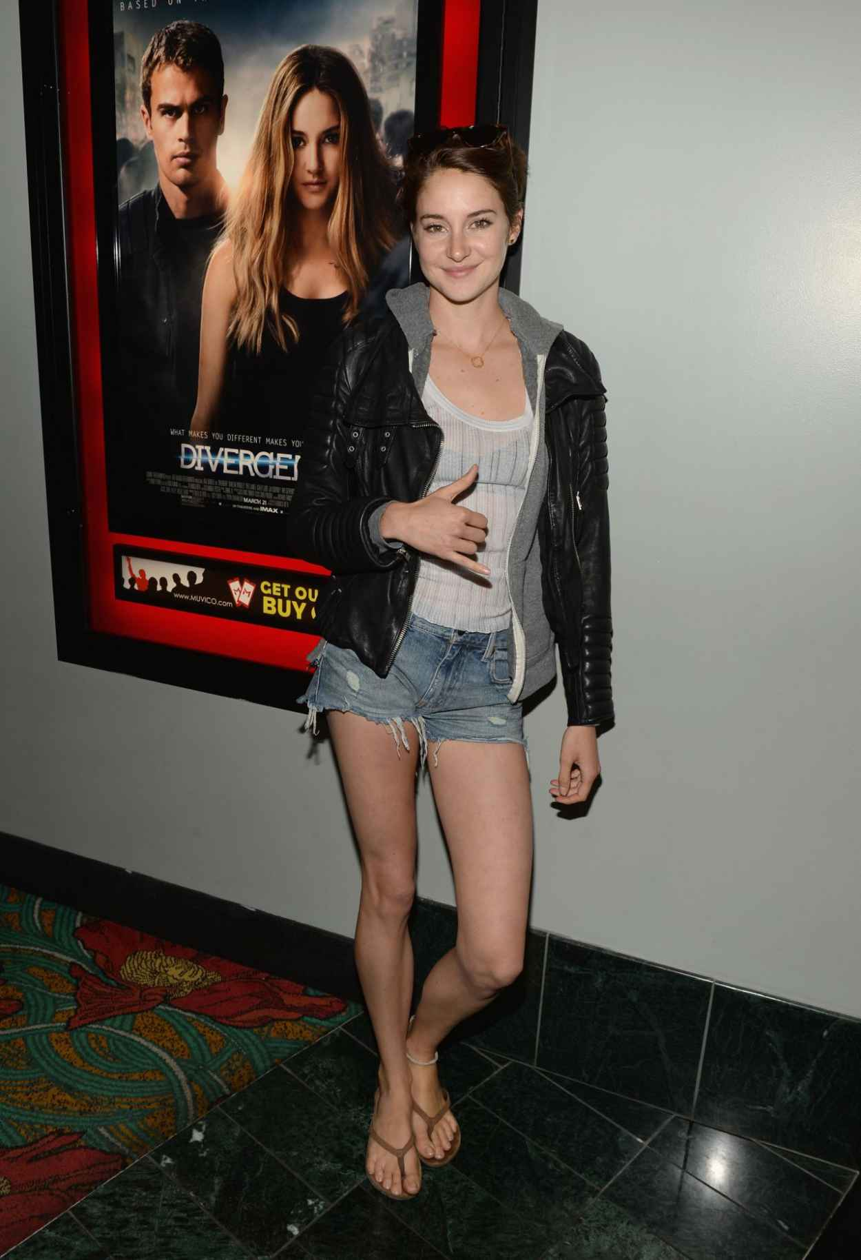 Shailene Woodley at Private Screening of Divergent-1