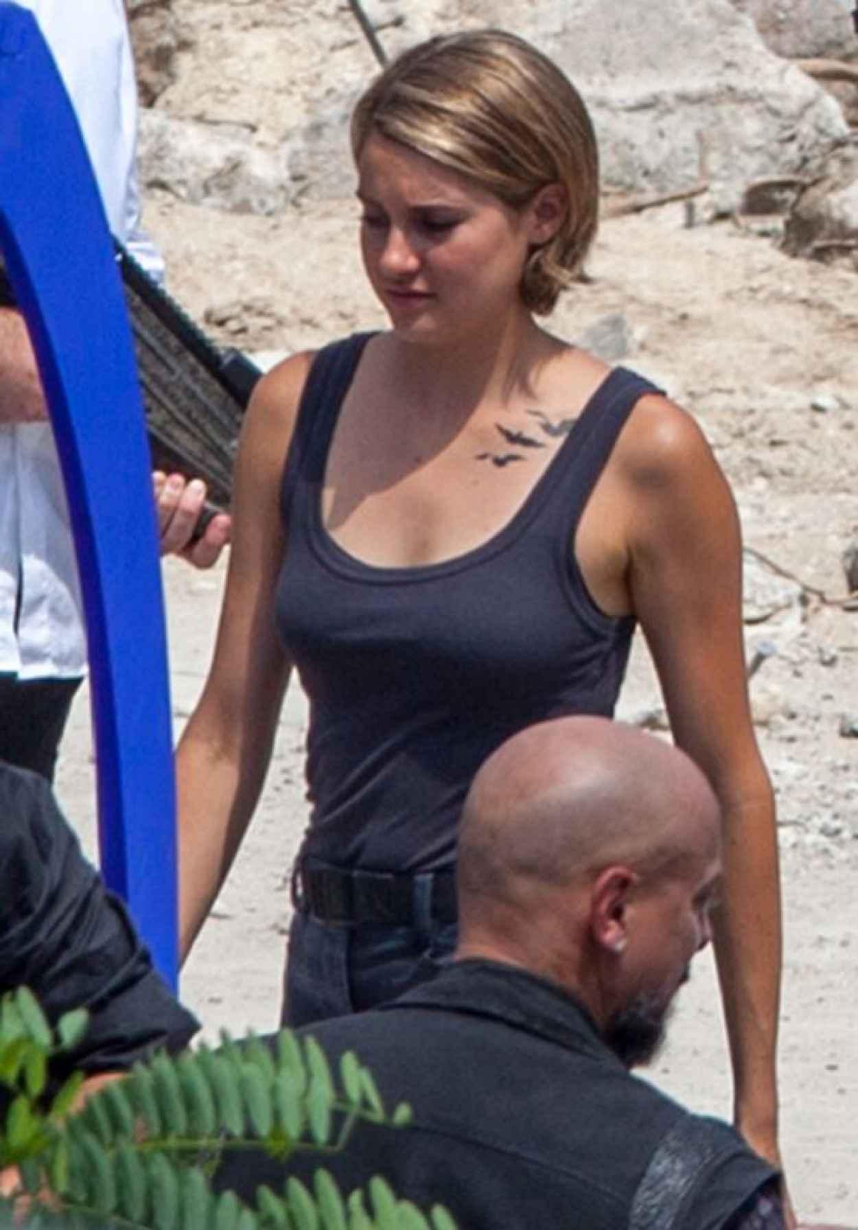 Shailene Woodley - Filming Allegiant: Part 1 in Atlanta, June 2015-1