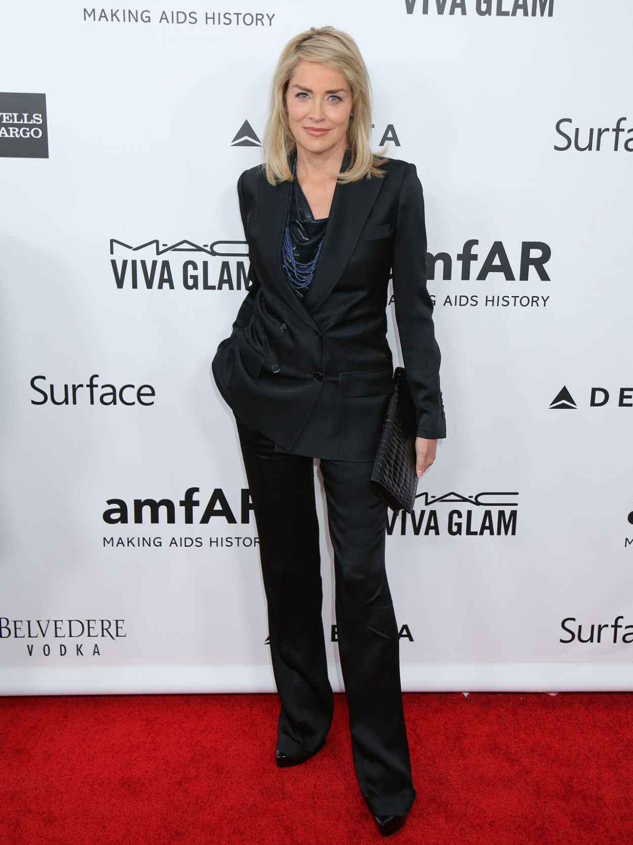 Sharon Stone at 2015 amFAR Inspiration Gala Los Angeles in LA - December 2015-1