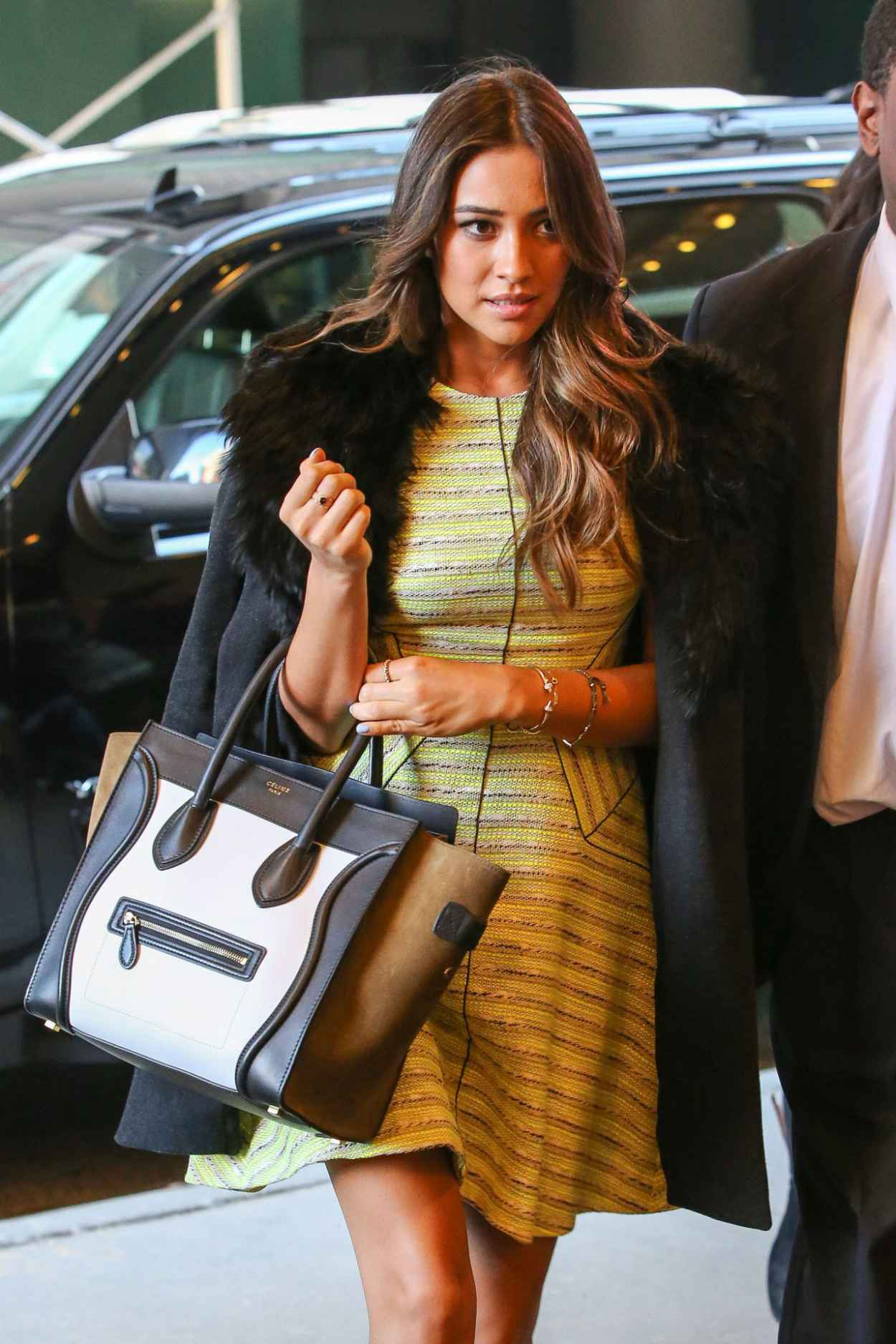 Shay Mitchell in New York City - Arriving at the MTV Studios-1