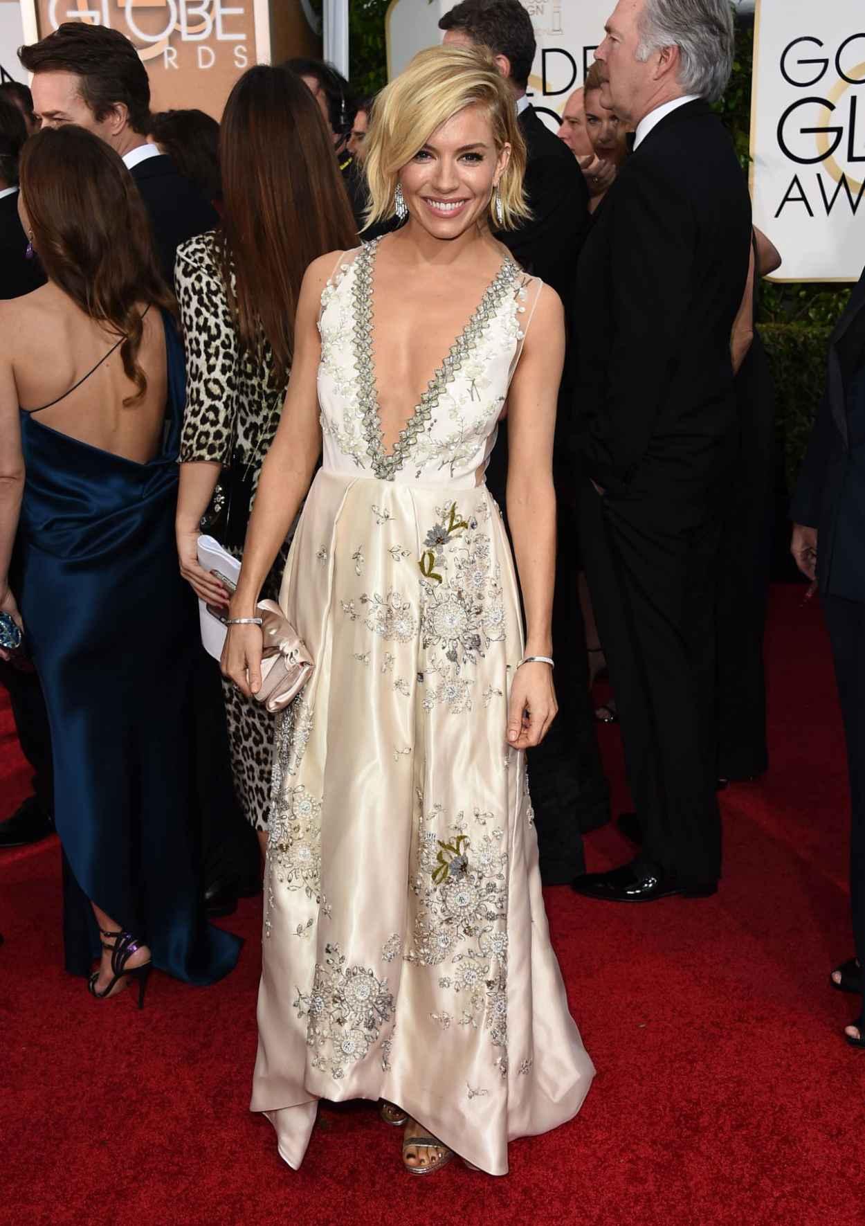 Sienna Miller - 2015 Golden Globe Awards in Beverly Hills-1