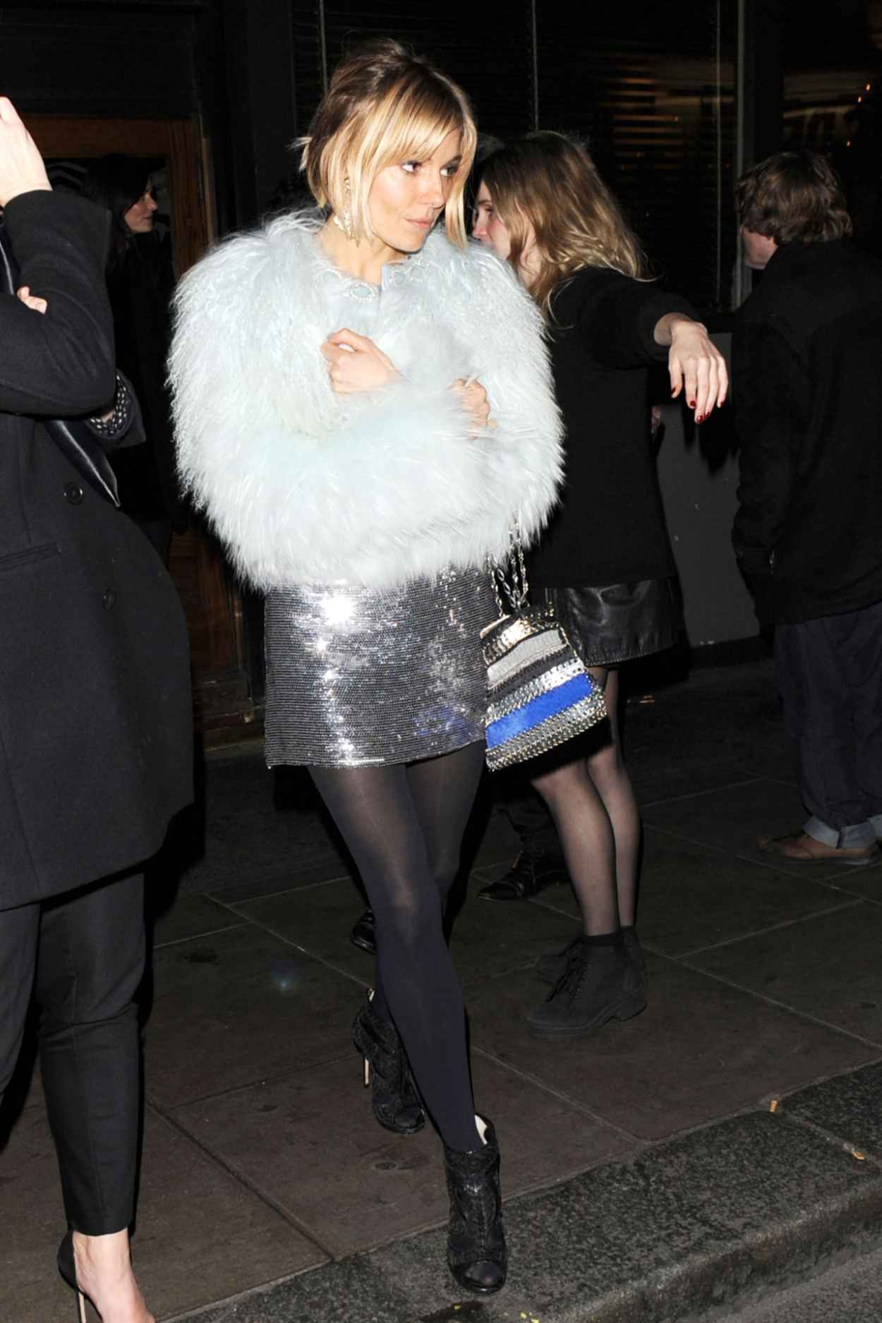 Sienna Miller Night Out Style - Groucho Club Arrival in London, December 2015-1
