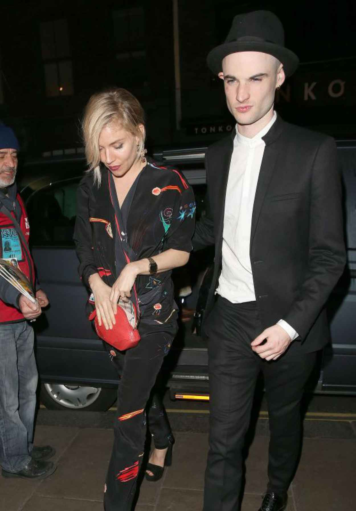 Sienna Miller Night Out Style - Groucho Club in London, April 2015-1