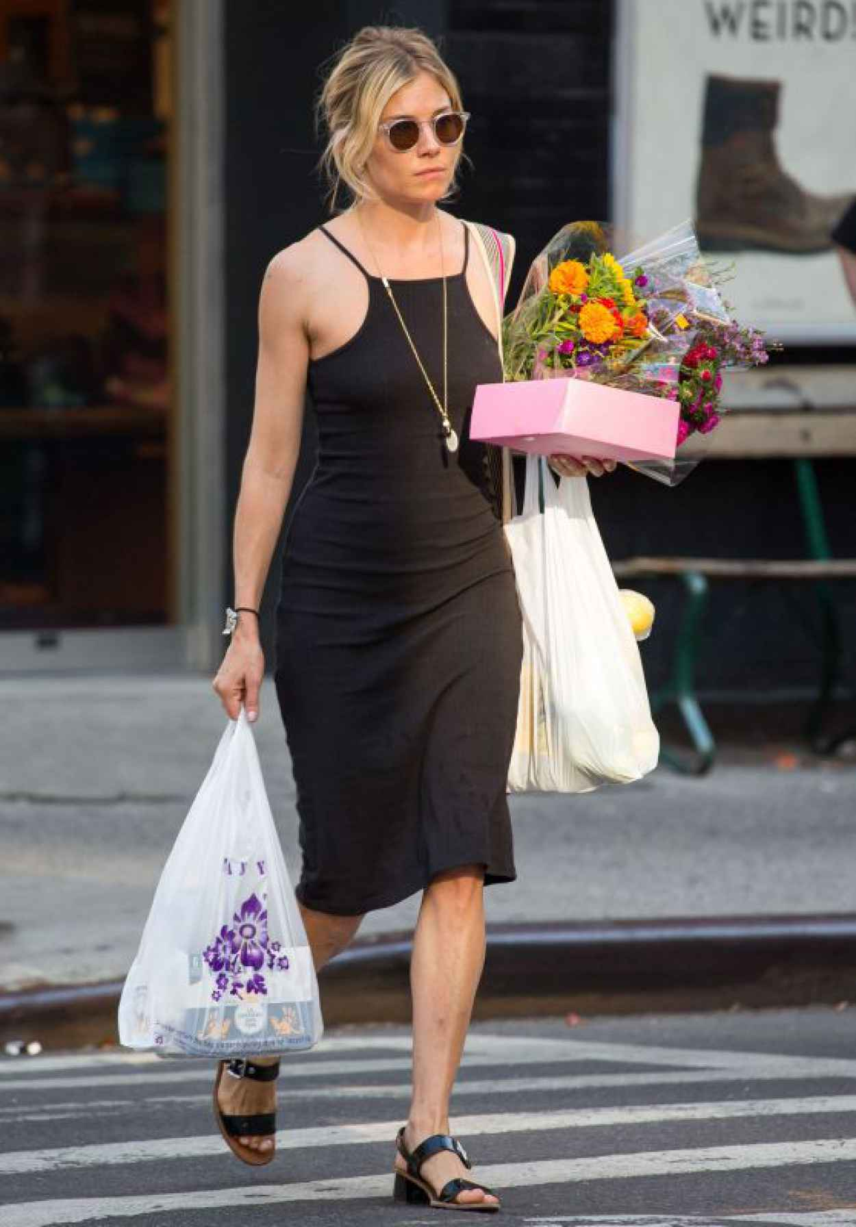 Sienna Miller - Street Fashion - Shopping in NYC, July 2015-1