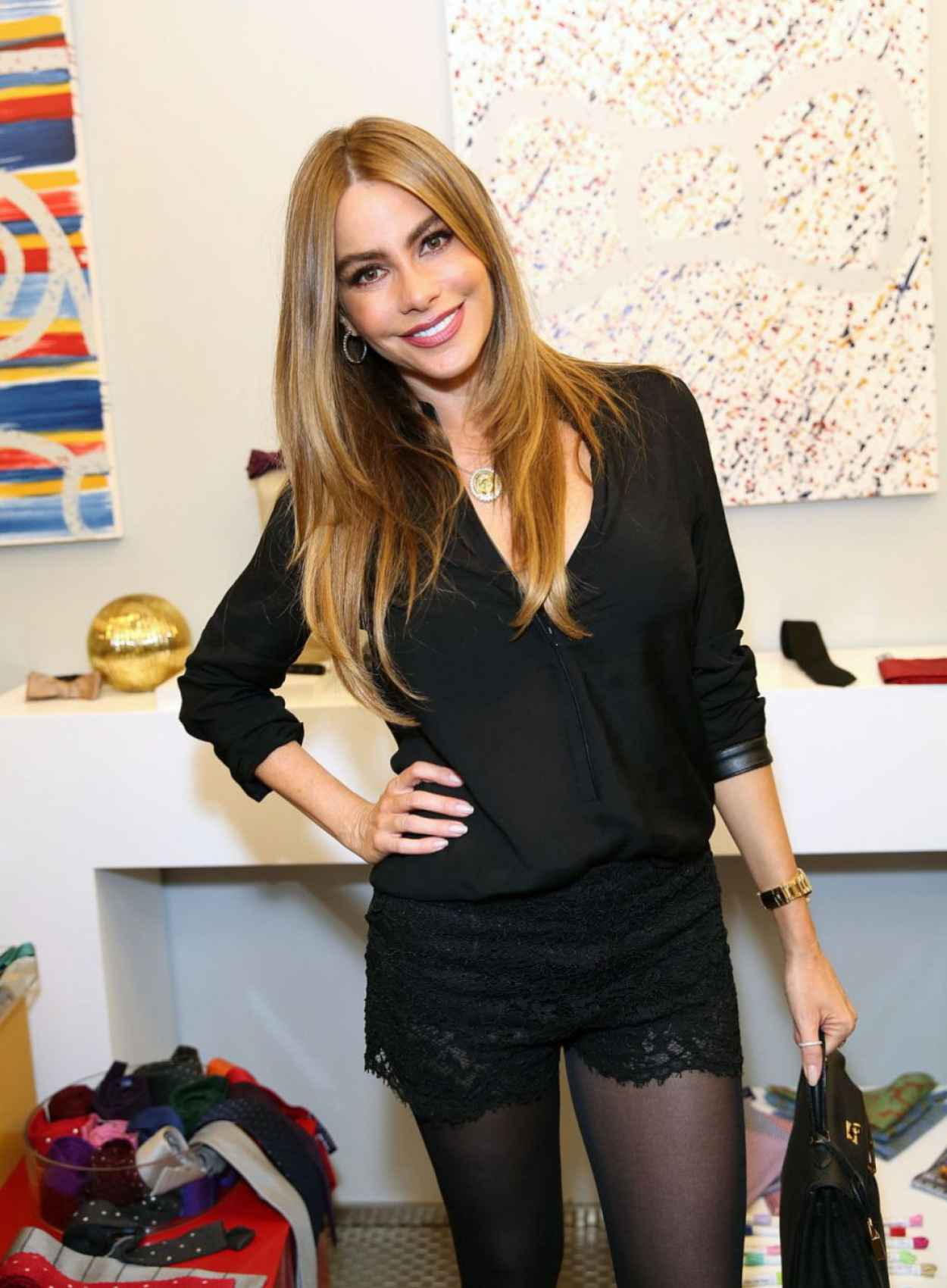 Sofia Vergara at Tie The Knot Pop-Up Store (Beverly Center) in Los Angeles - December 2015-1