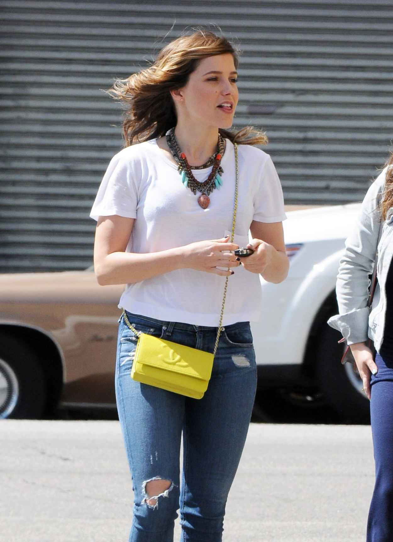 Sophia Bush in Ripped Jeans - Out in LA - March 2015-1