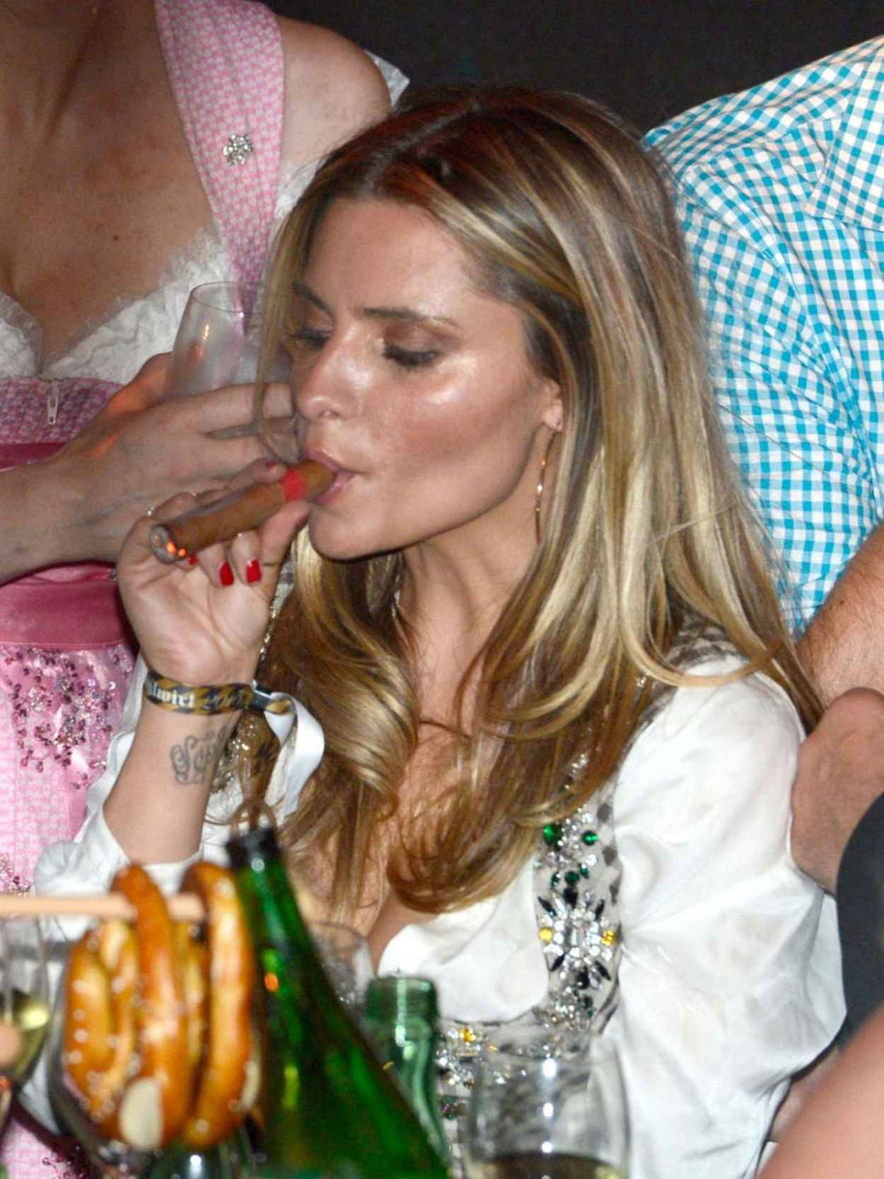 Sophia Thomalla - 2015 White Sausage Party in Kitzbuhel (Austria)-3
