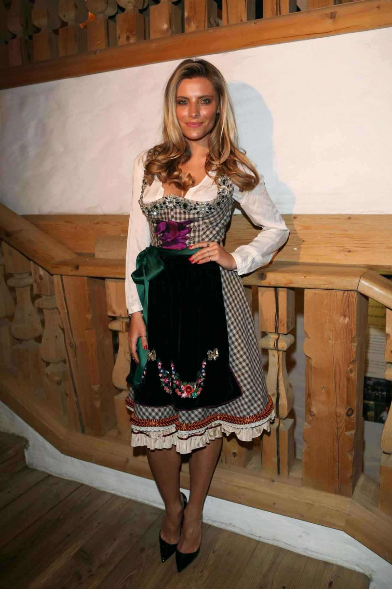 Sophia Thomalla - 2015 White Sausage Party in Kitzbuhel (Austria)-5