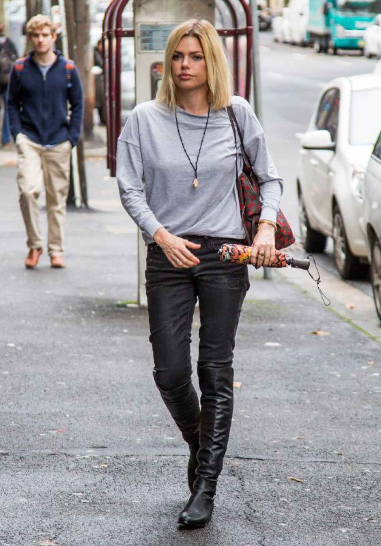Sophie Monk Street Style - Rainy Day in Sydney, Australia, April 2015-1